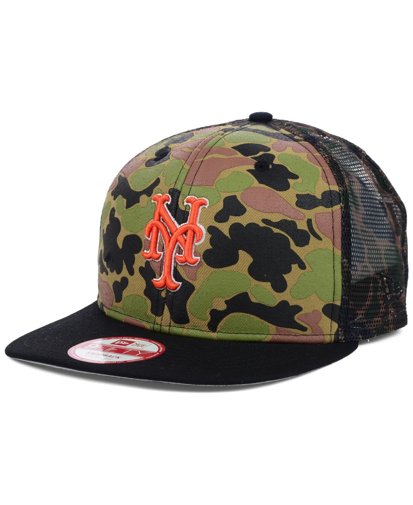 ktz new york mets camo face mesh trucker 9fifty snapback. Black Bedroom Furniture Sets. Home Design Ideas