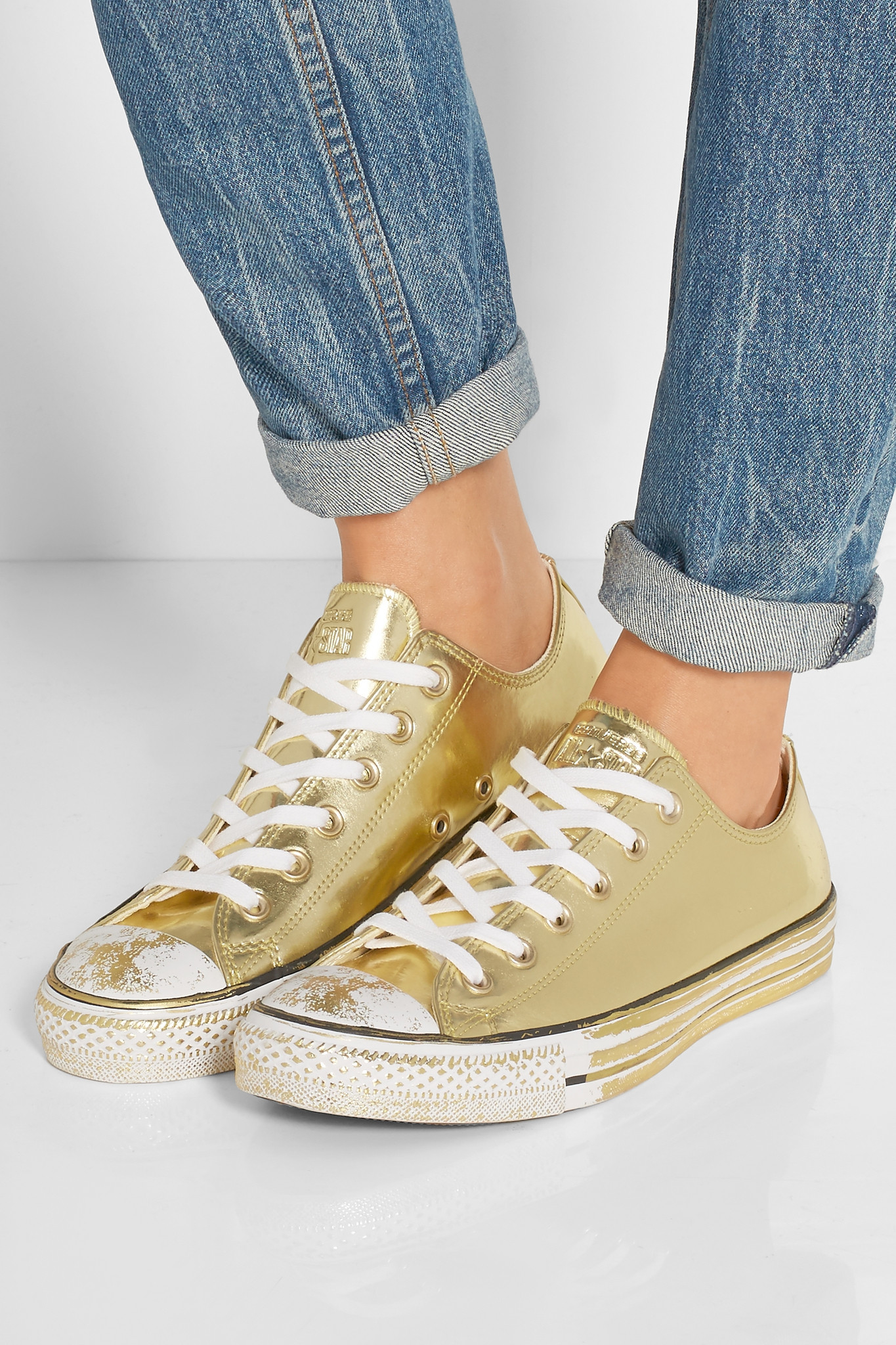 Converse Chuck Taylor All Star Chrome Metallic Leather Sneakers