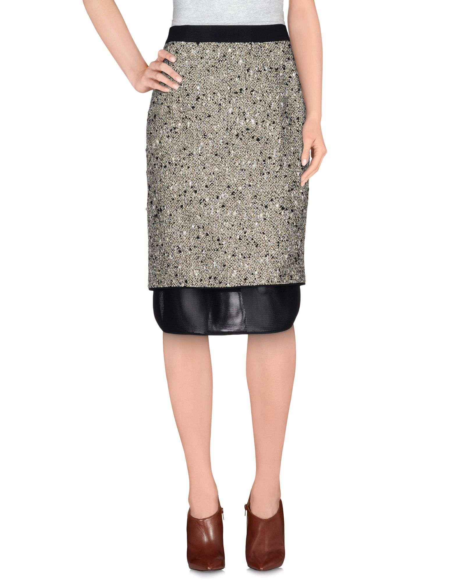 Giambattista valli 3 4 length skirt in black lyst for 20 34 35 dress shirts