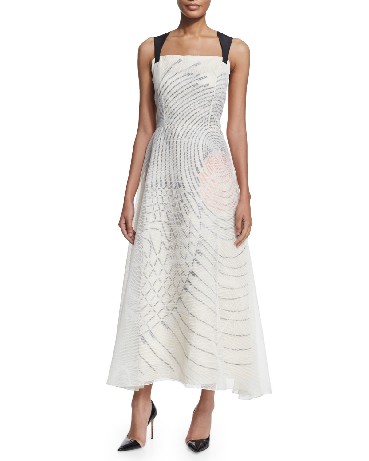 Sleeveless A-Line Organza Dress Carolina Herrera DRlUalwbuS