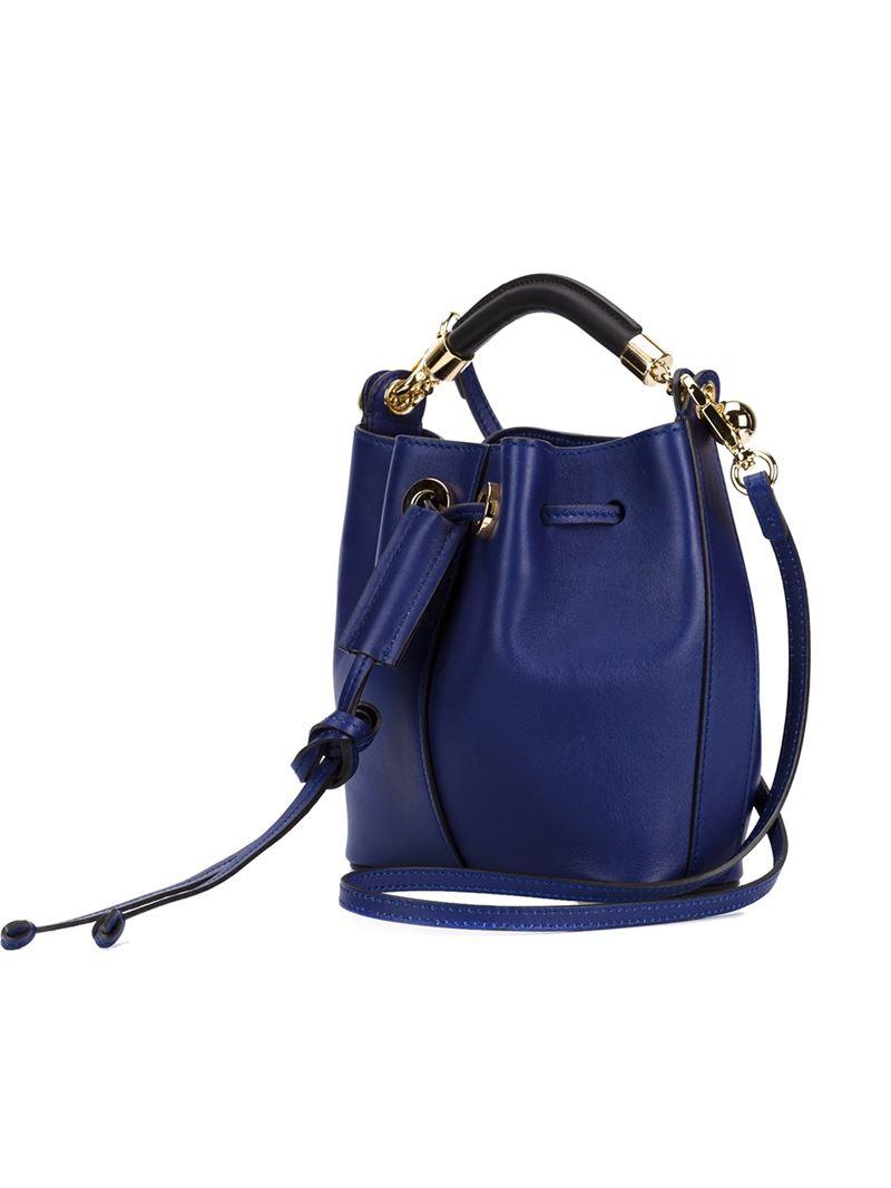 Chloé 'Gala' Bucket Tote in Blue