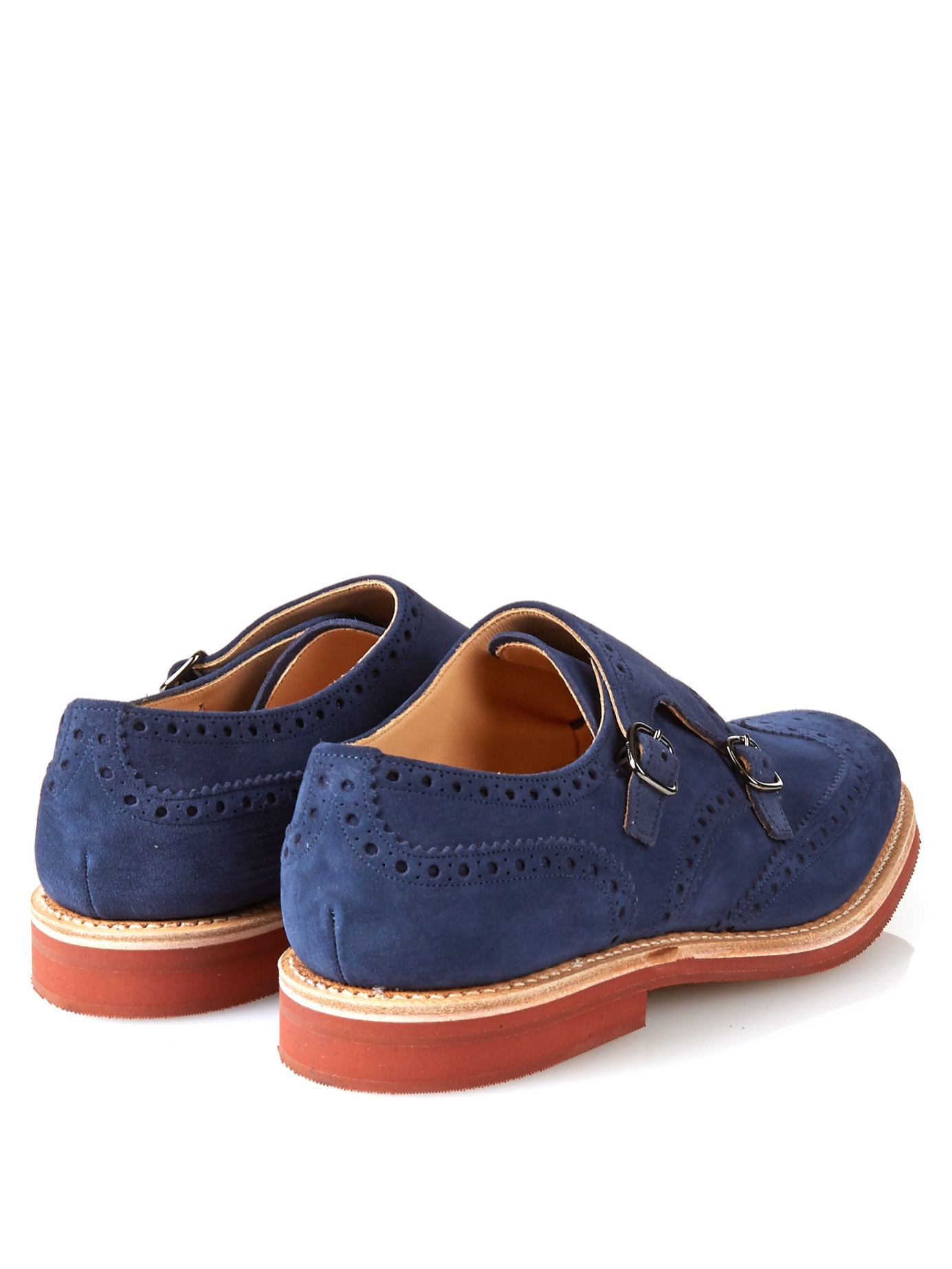 Church Blue Suede Shoes Oleather Lace