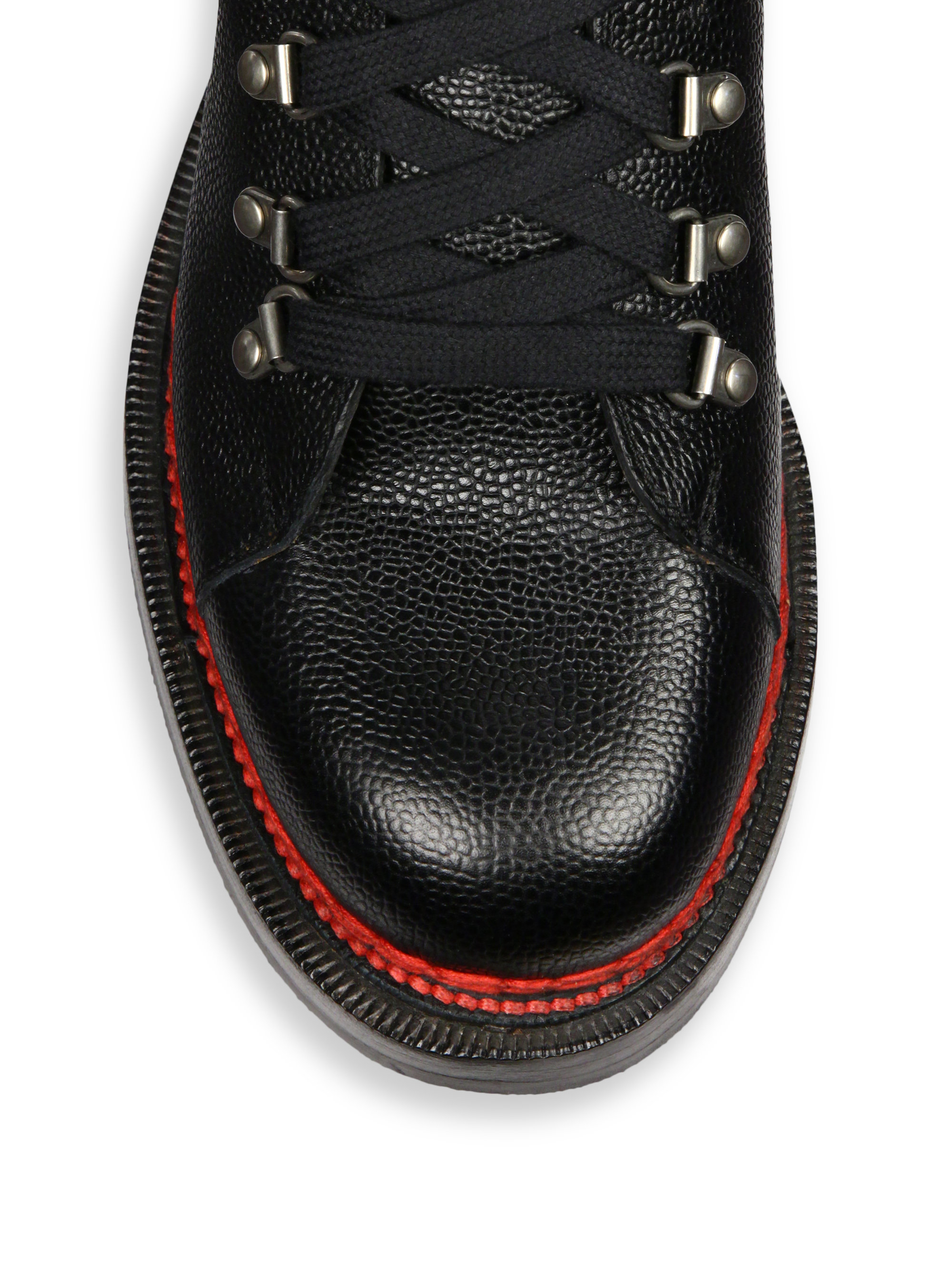 75bc6a533c98 Lyst - Gucci Tracker Lace-Up Leather and Suede Boots in Black for Men