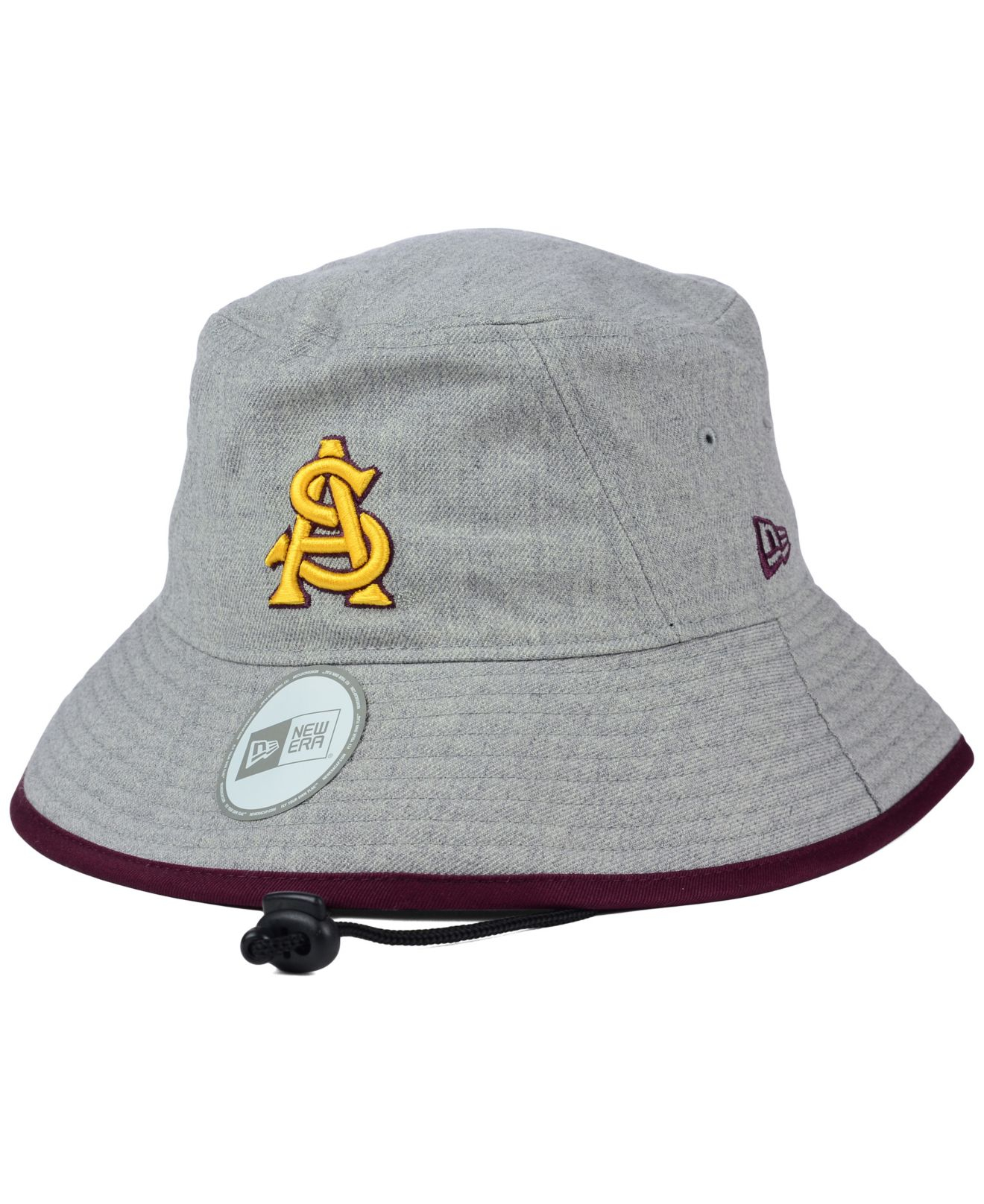 save off 88df7 4a155 ... reduced lyst ktz arizona state sun devils tip bucket hat in gray f4122  25db8