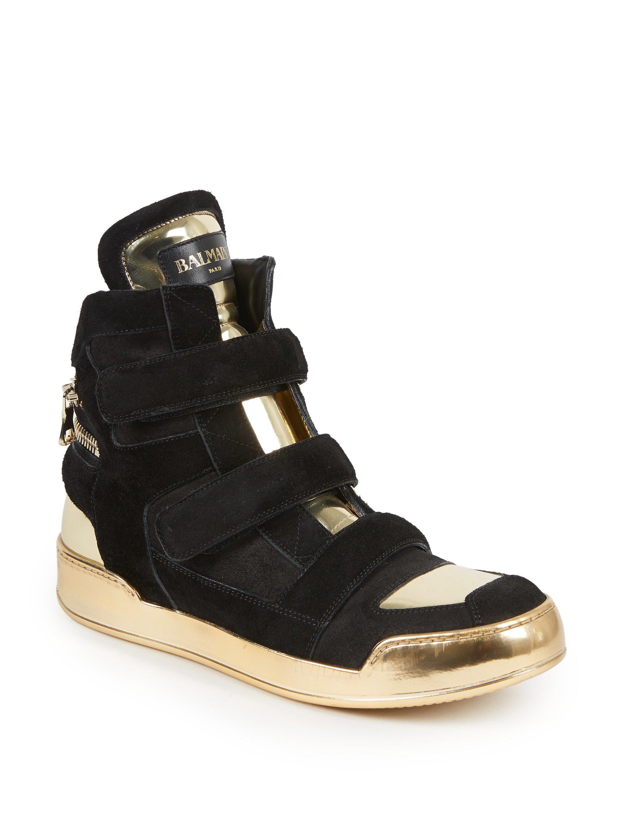 Chaussures De Sport De Haute Cheville - Vert Balmain krD0wZ