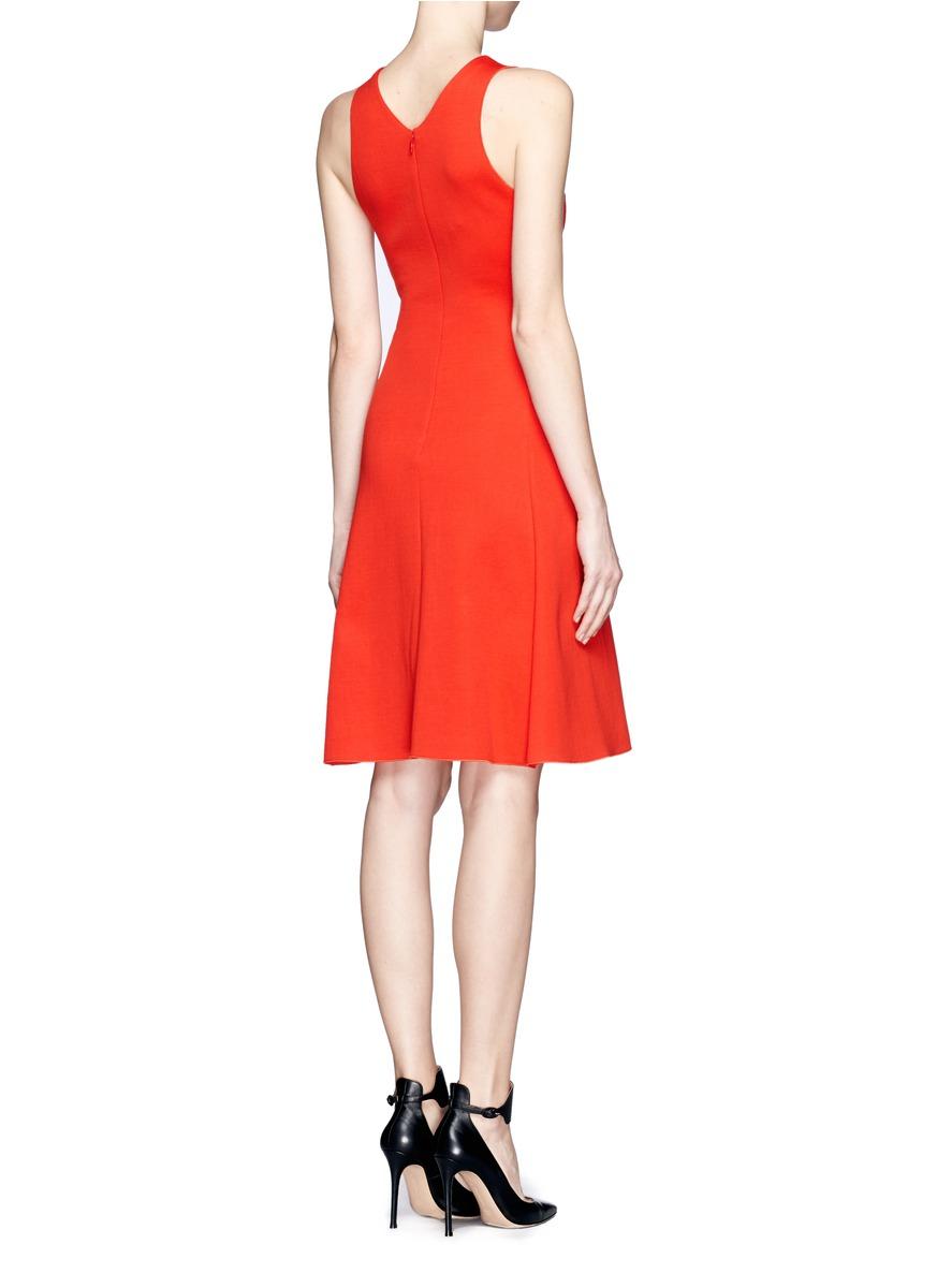 9daaa272cc9 Lyst - Stella mccartney Jersey Flare Dress in Red