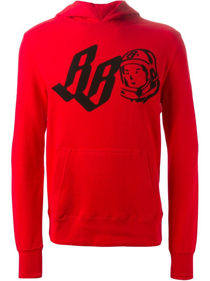 BBCICECREAM Logo Print Hoodie in Red for Men
