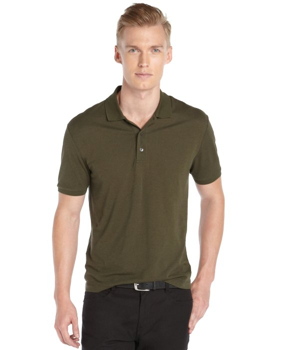 Gucci Green Cotton Silk Linen Polo In Green For Men Lyst