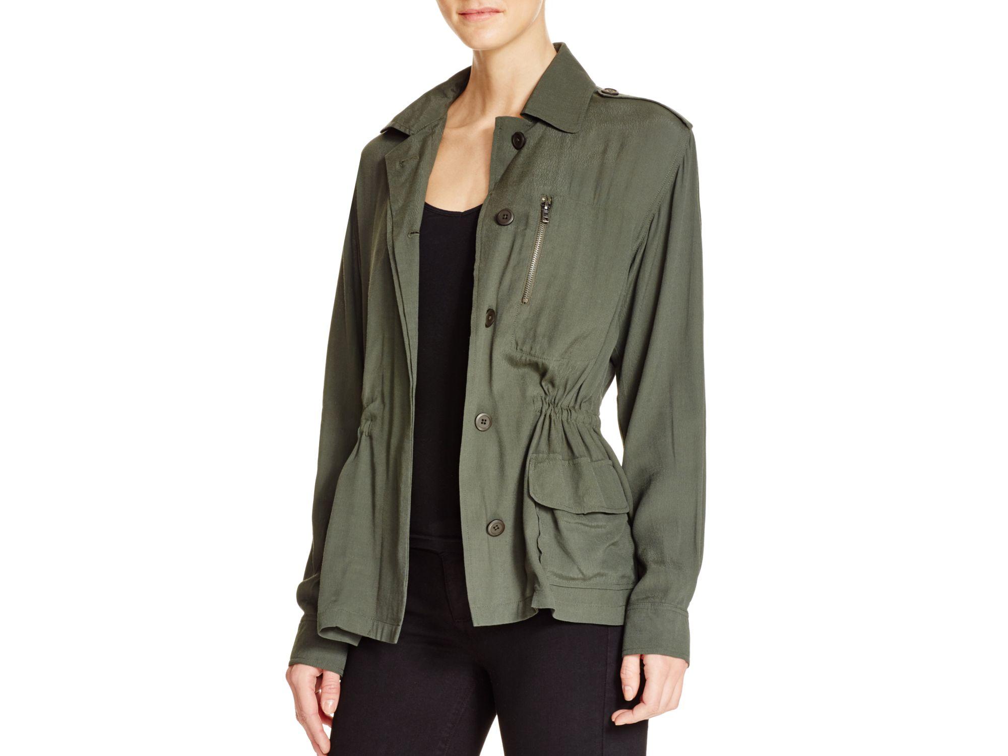 Bb dakota Lana Crepe Lightweight Jacket in Green | Lyst