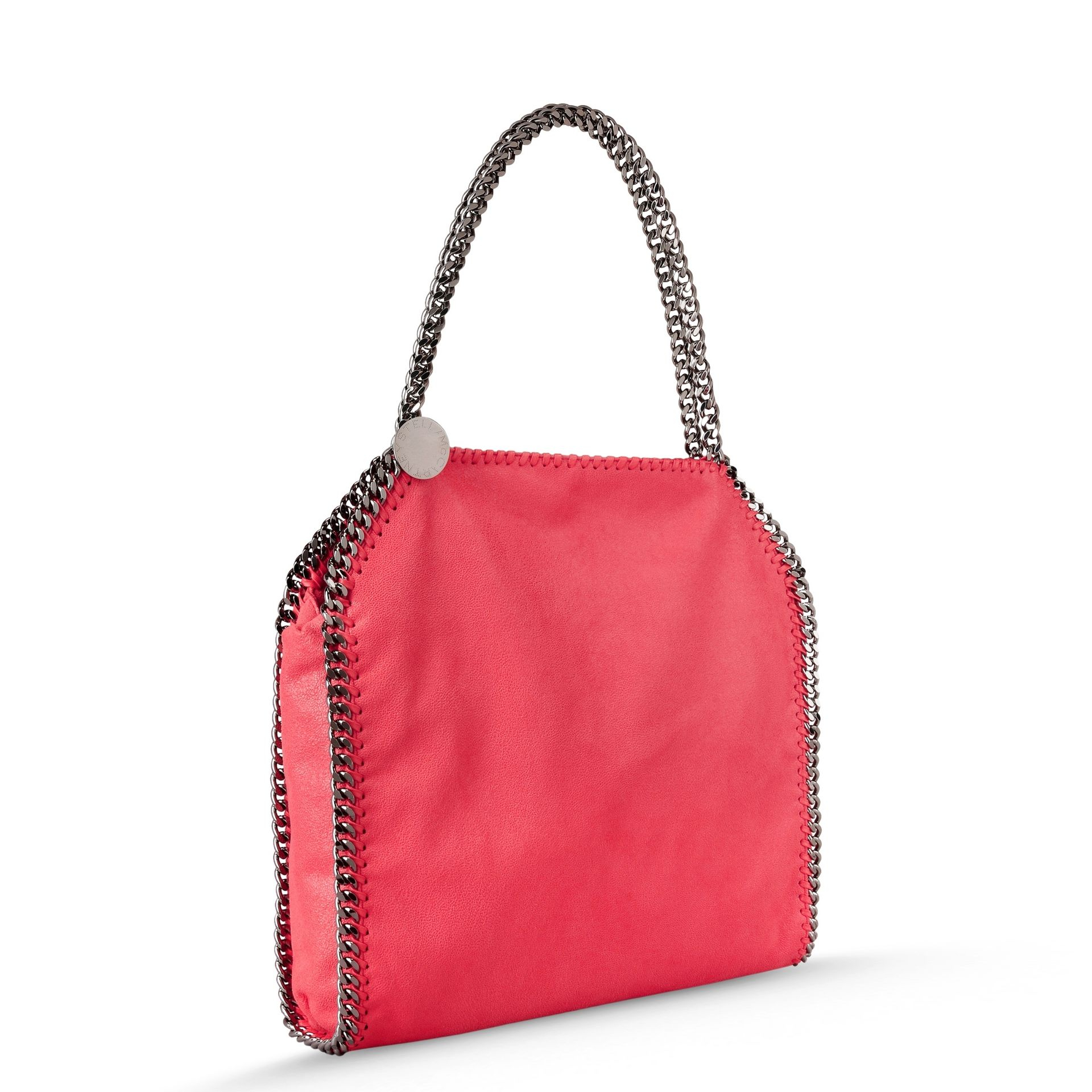 33c07aba7c0ce Lyst - Stella McCartney Pink Fluo Falabella Shaggy Deer Small Tote ...