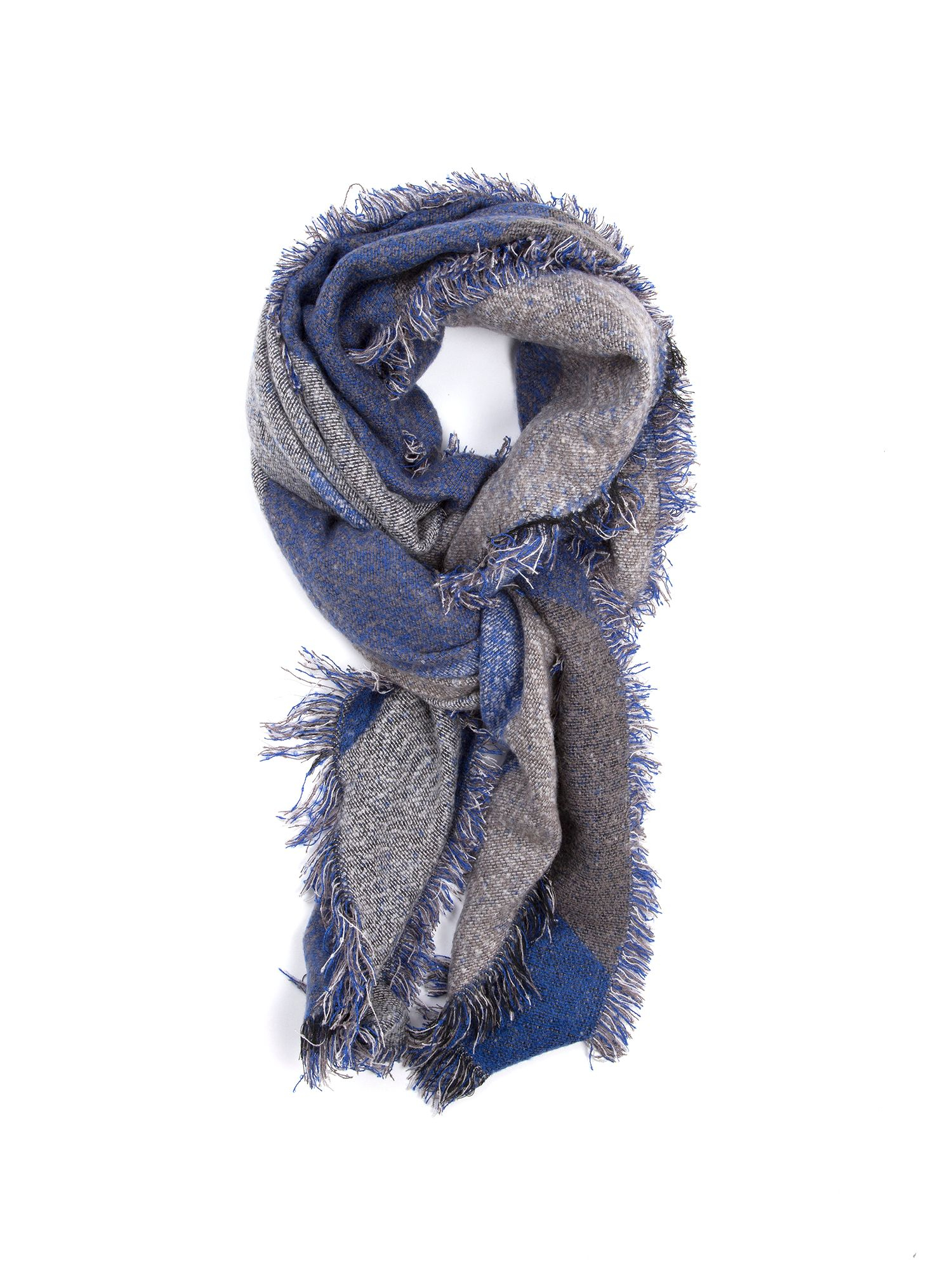 lyst lavand tie and die scarf in blue. Black Bedroom Furniture Sets. Home Design Ideas
