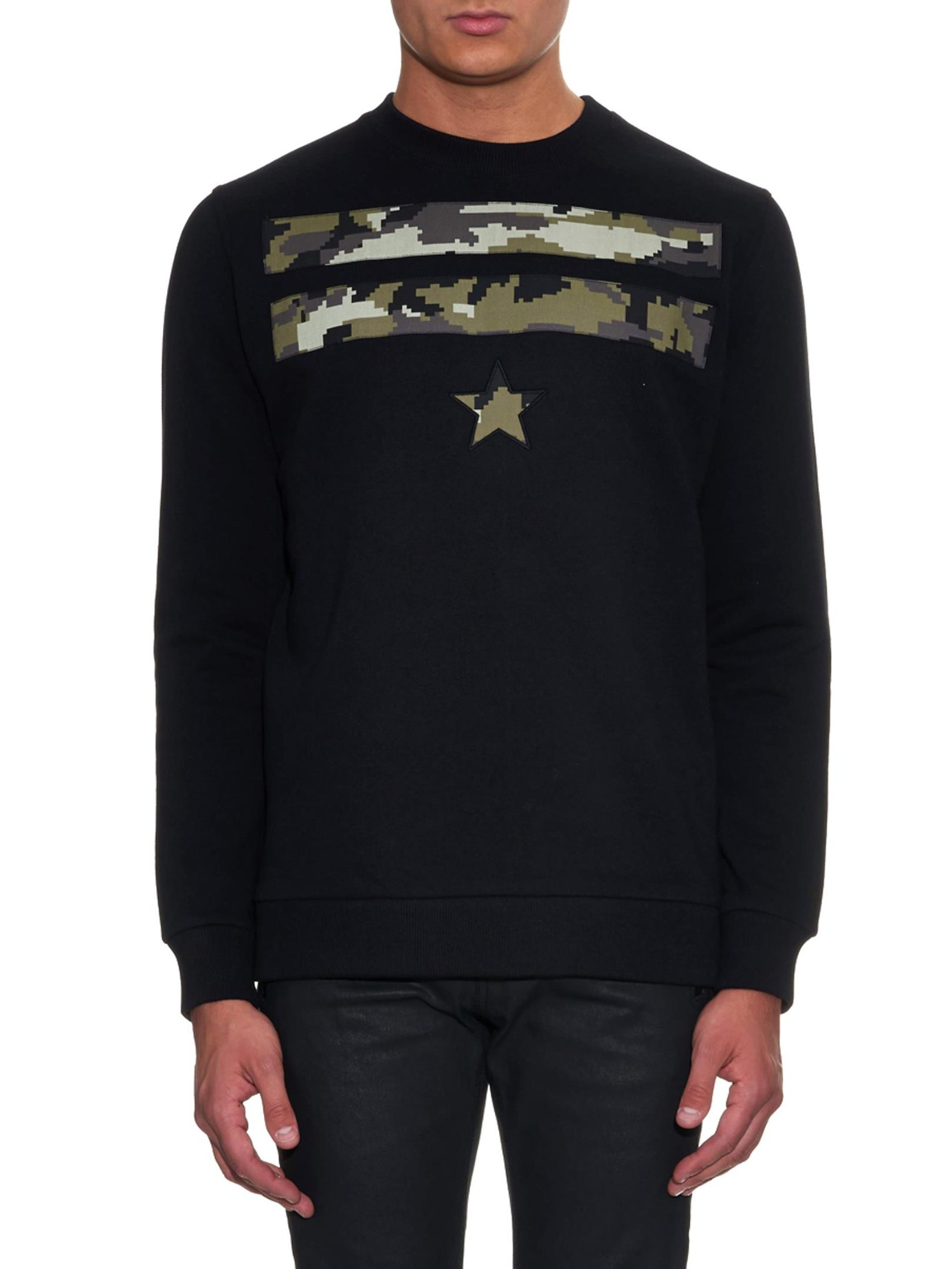 67fa82135835 Givenchy Cuban-Fit Stars And Stripes Camo-Print Sweater in Black for Men