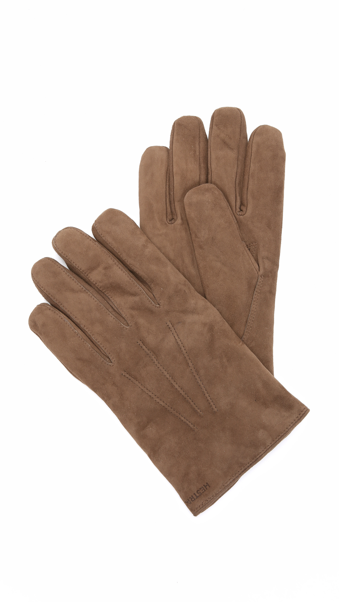 Black leather gloves with fur - Hestra Robert Wool Lined Suede Gloves In Brown For Men Lyst