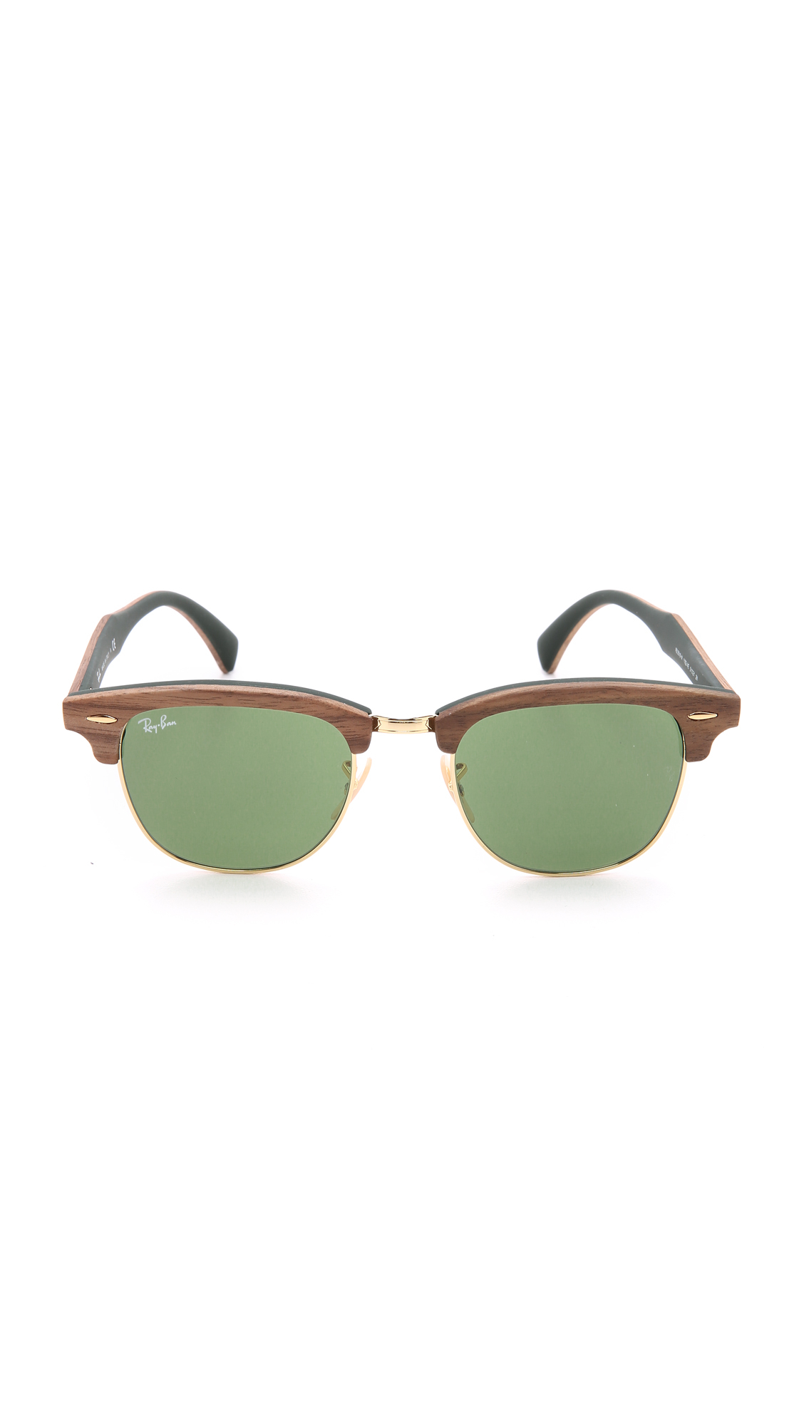 ray ban clubmaster 50mm  Ray-ban Clubmaster Wood Sunglasses in Brown