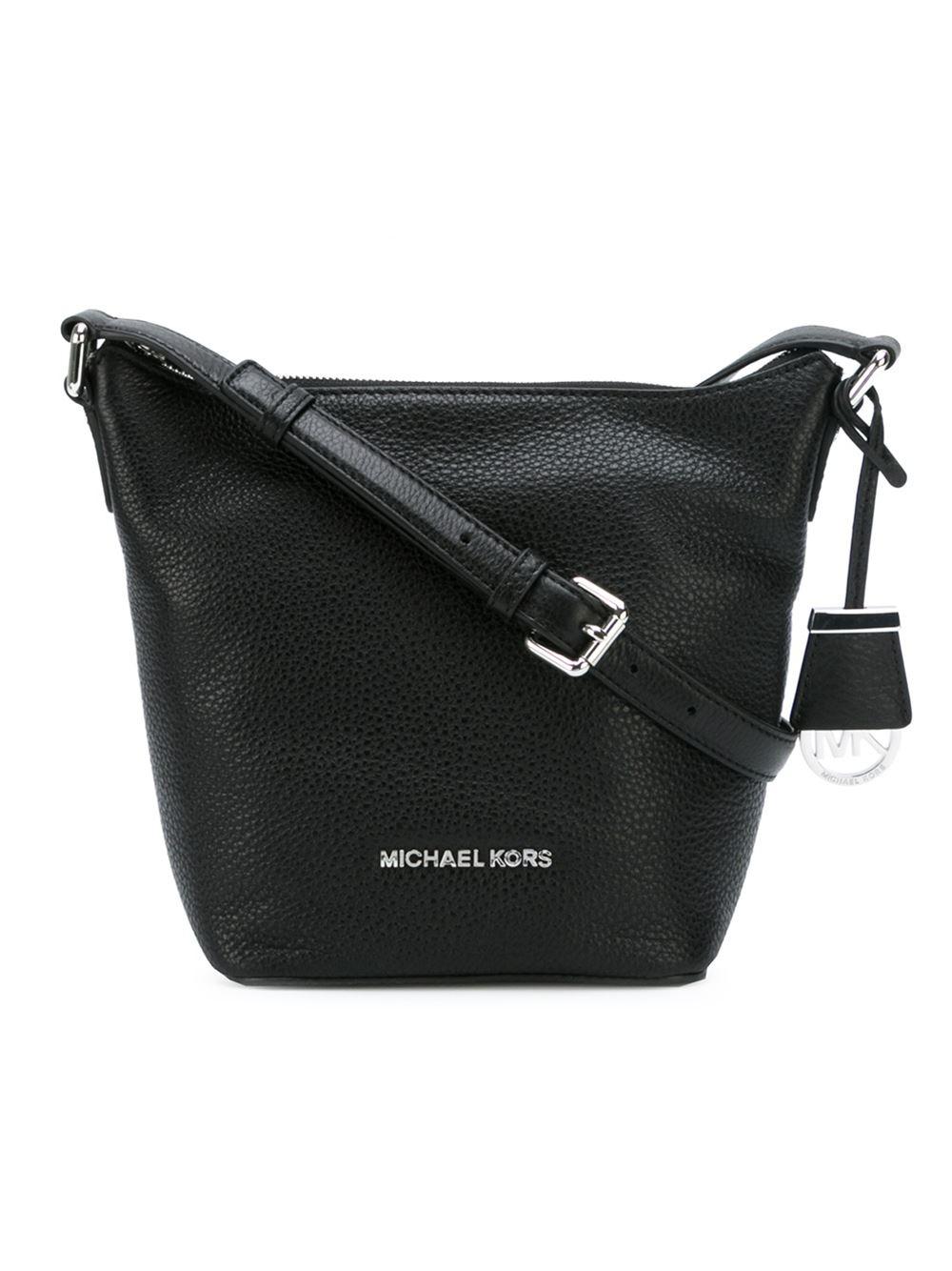 02fa739eac4a MICHAEL Michael Kors Small 'bedford' Messenger Bag in Black - Lyst