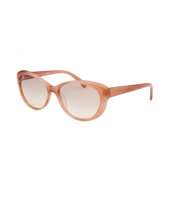 Valentino Glasses Frames 2015 : Valentino Womens Cat Eye Striped Rose Sunglasses in Pink ...