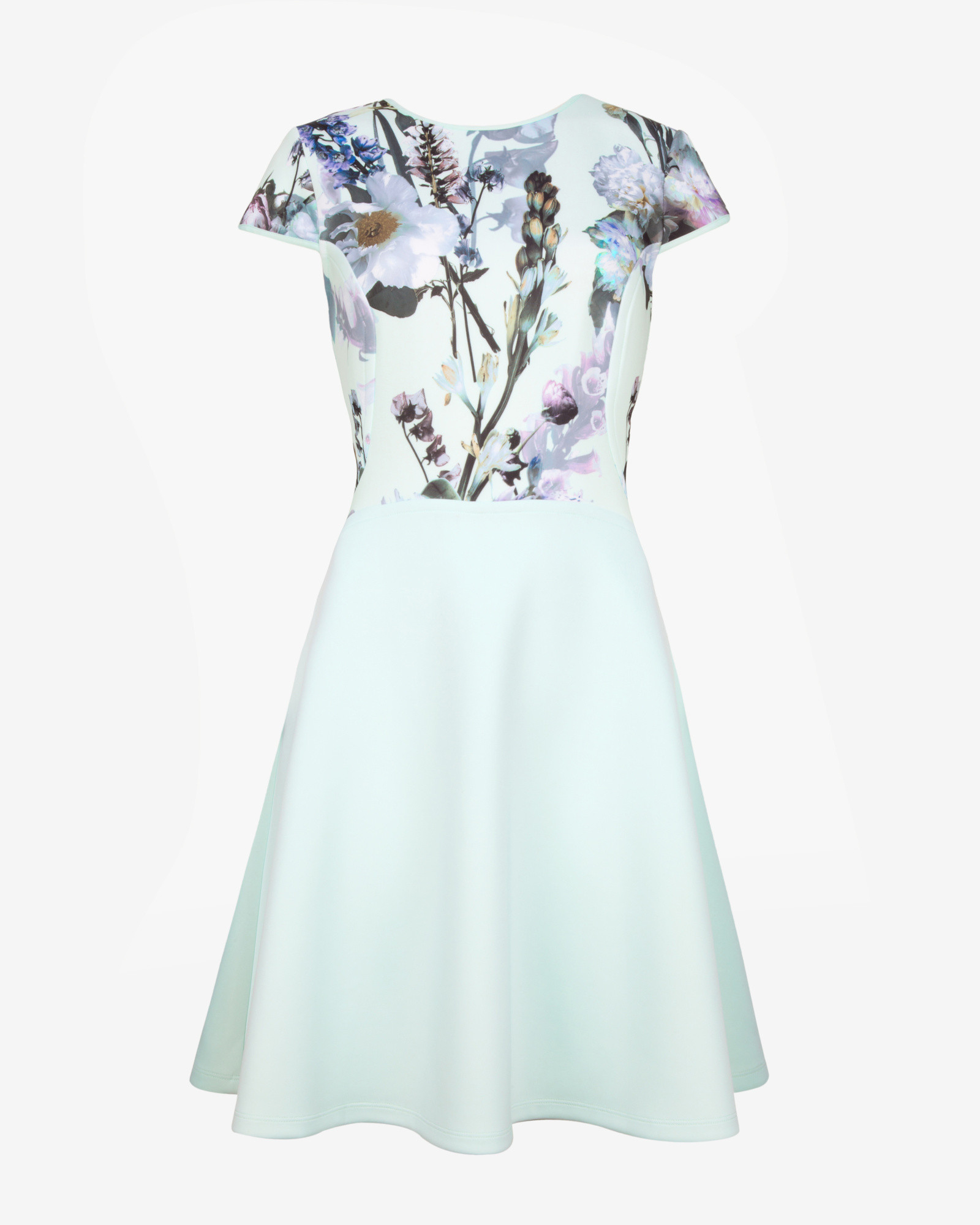 c689d2e23e Ted Baker Torchlit Floral Print Skater Dress in Blue - Lyst