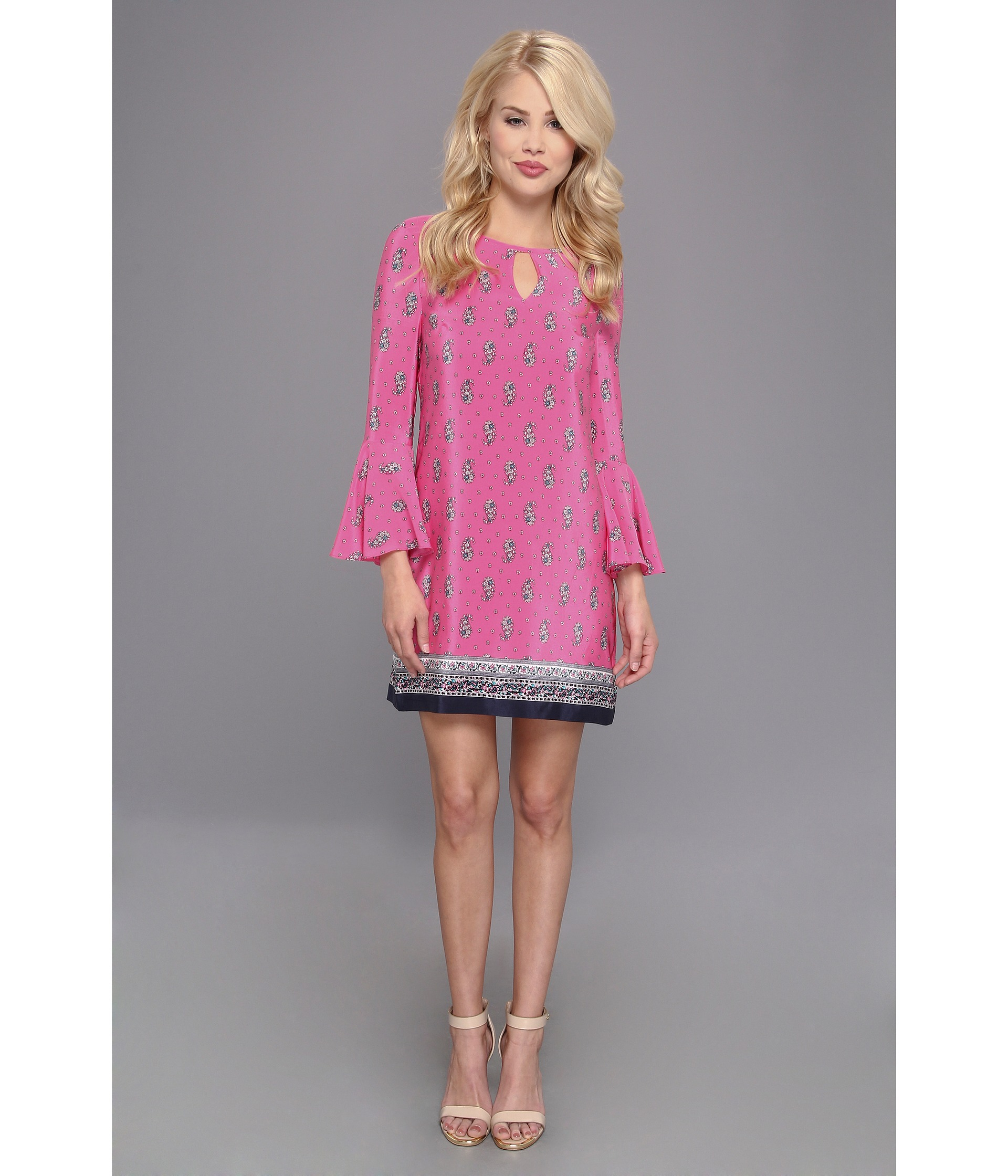 0ecc624e9d Lyst - Juicy Couture Boho Paisley Dress in Pink