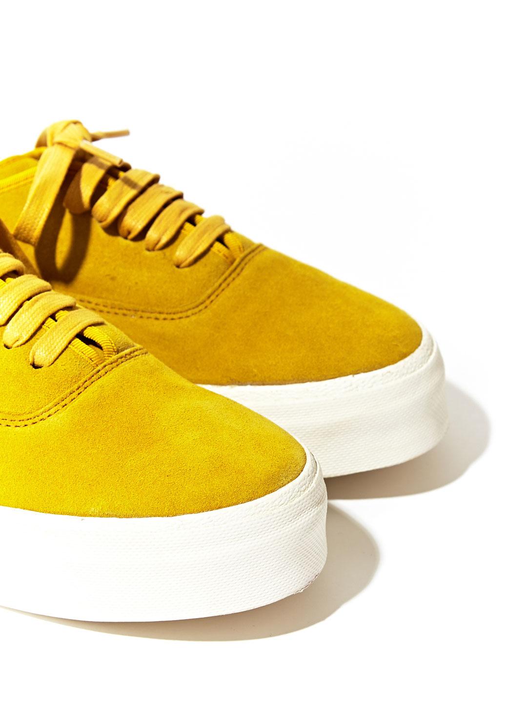 Eytys Unisex Suede Mother Sneakers In Yellow For Men Lyst