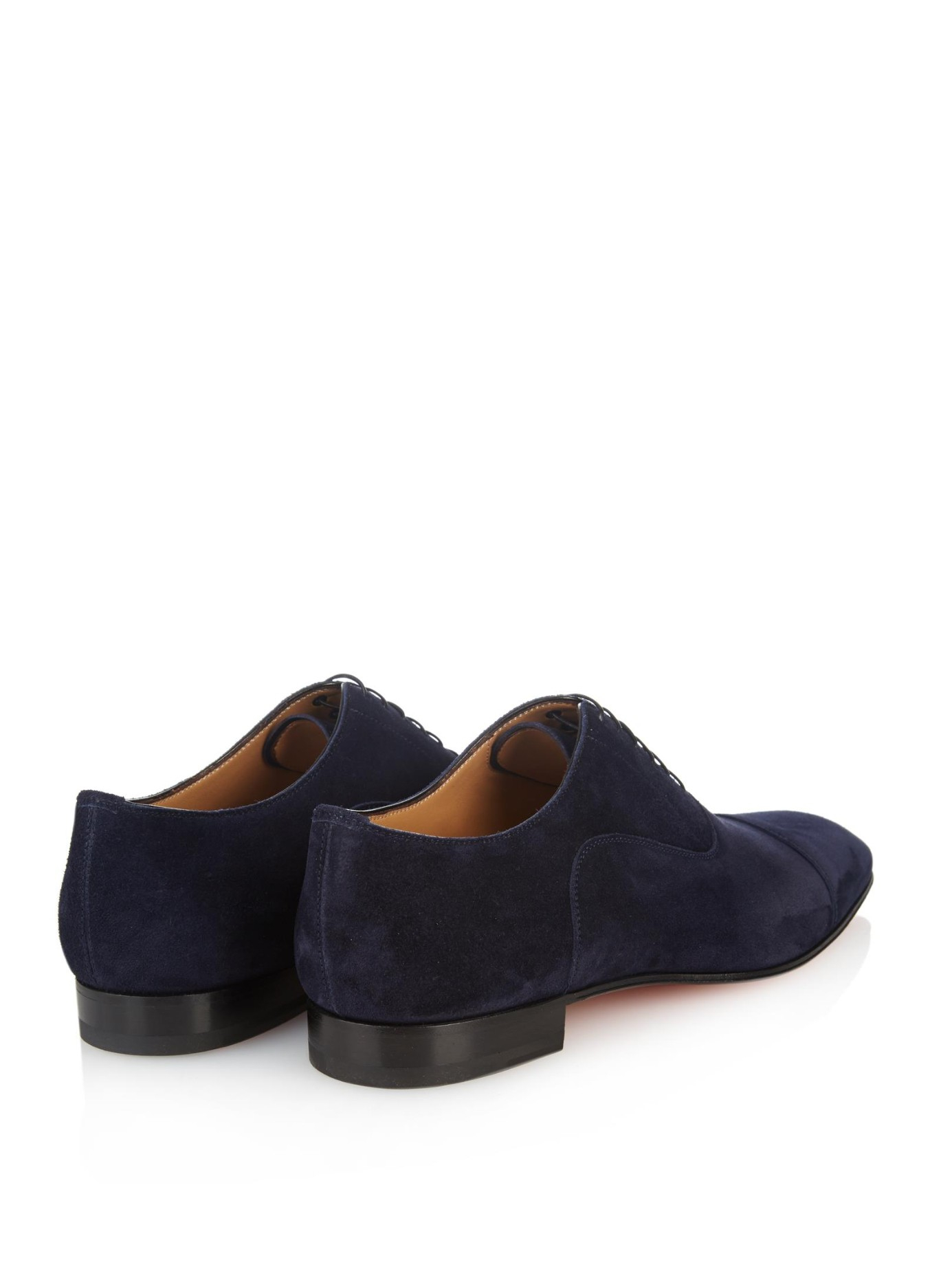 c9afa8e50983 Lyst - Christian Louboutin Greggo Suede Lace-Up Shoes in Blue for Men