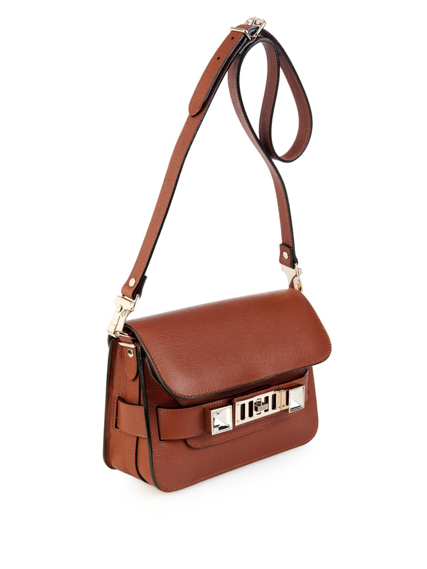 af256f750bf5 Lyst - Proenza Schouler Ps11 Mini Classic Leather Shoulder Bag in Brown