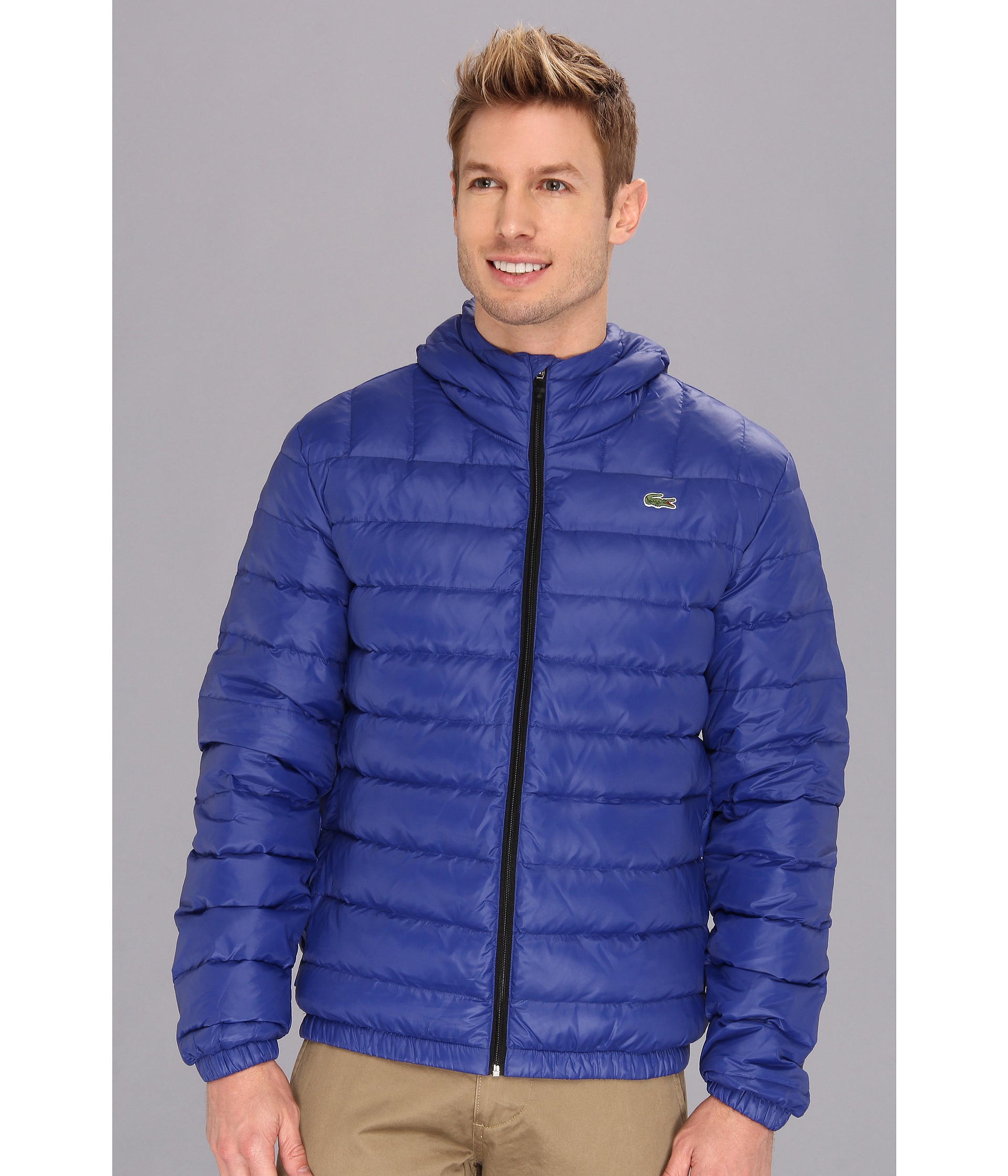 Lacoste Featherweight Packable Down Jacket in Blue for Men | Lyst