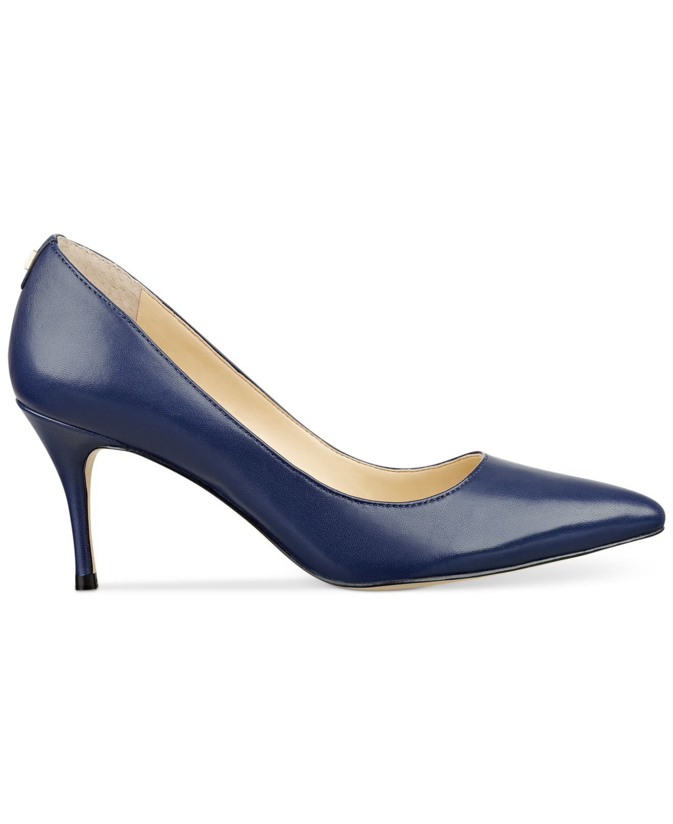Ivanka trump Tirra Leather Pumps in Blue (Navy Blue Leather) | Lyst