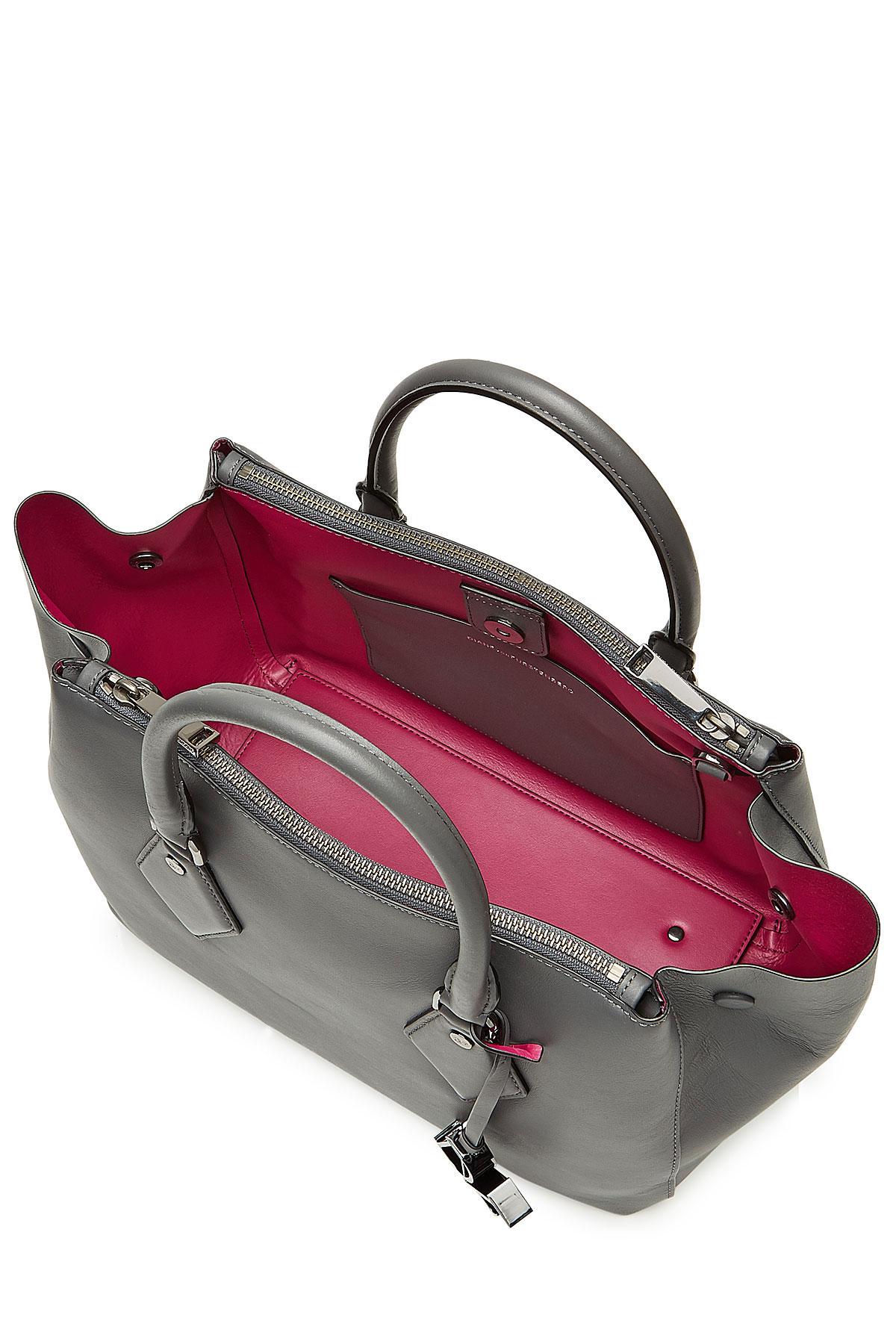 Diane von furstenberg Voyage Double Zip Satchel Medium Leather ...