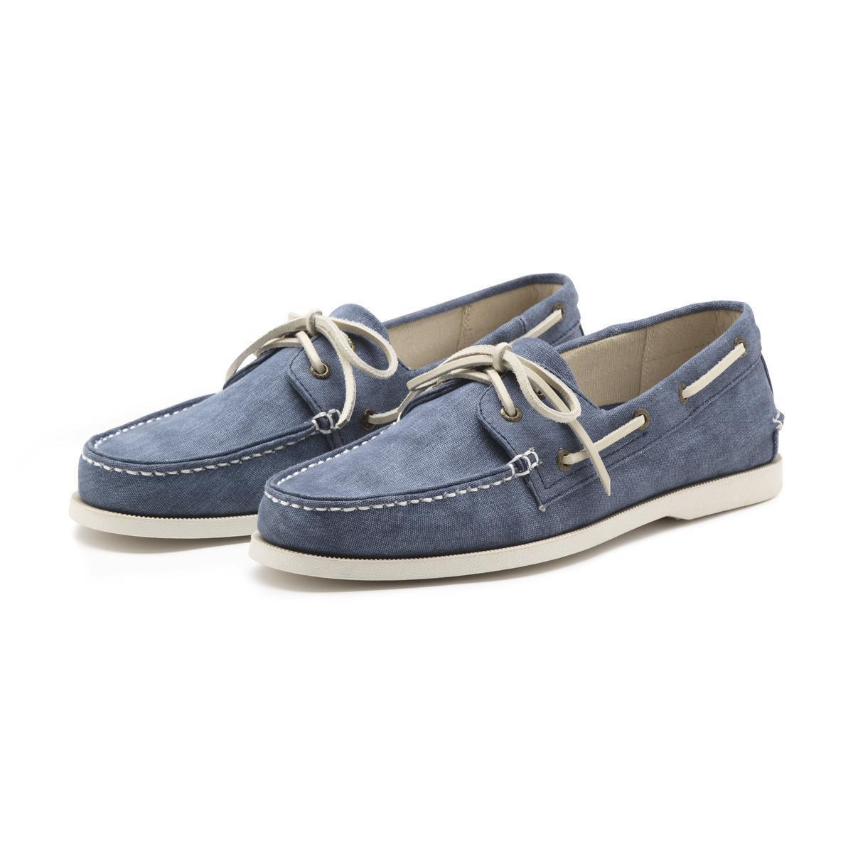 Lyst - G.h. Bass U0026 Co. Hampton Canvas Boater In Blue For Men