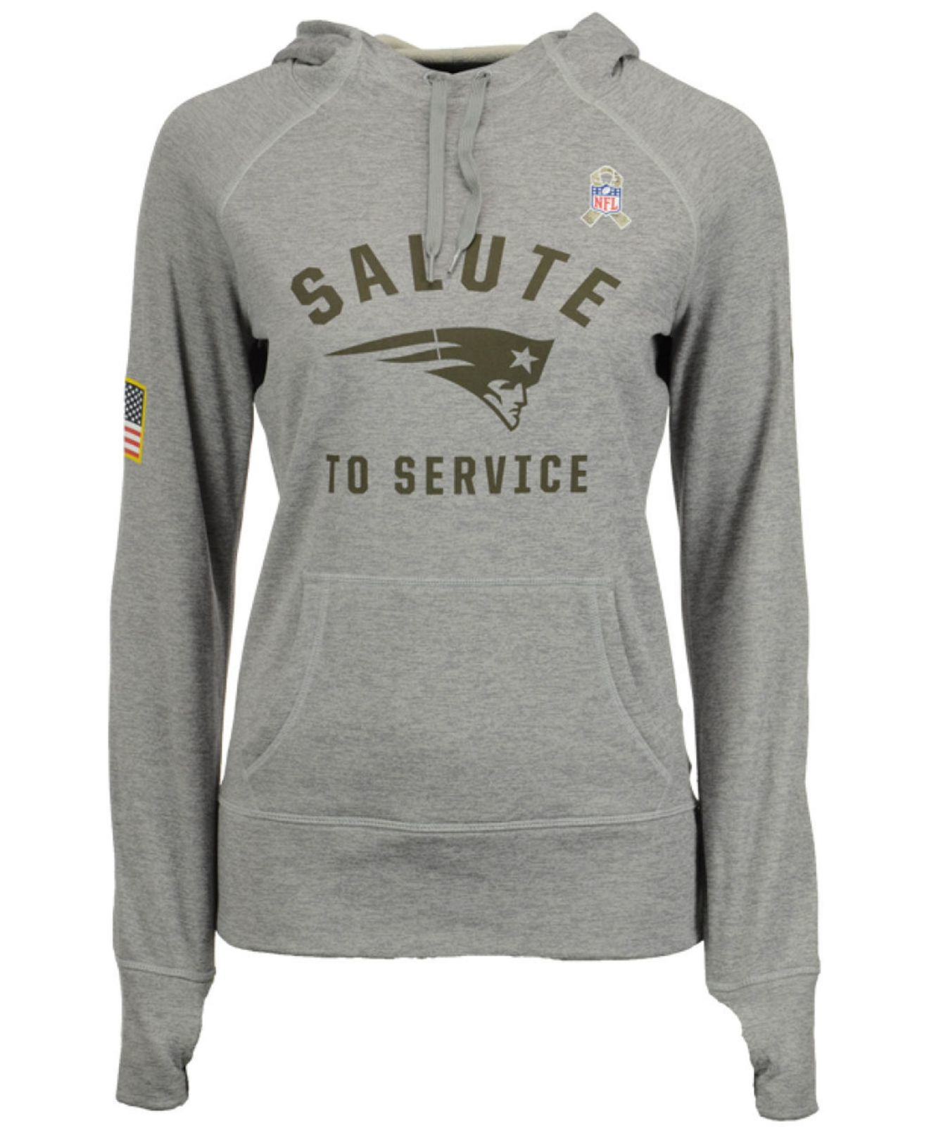size 40 045bd 224ff Nike Gray Women's New England Patriots Salute To Service Hoodie