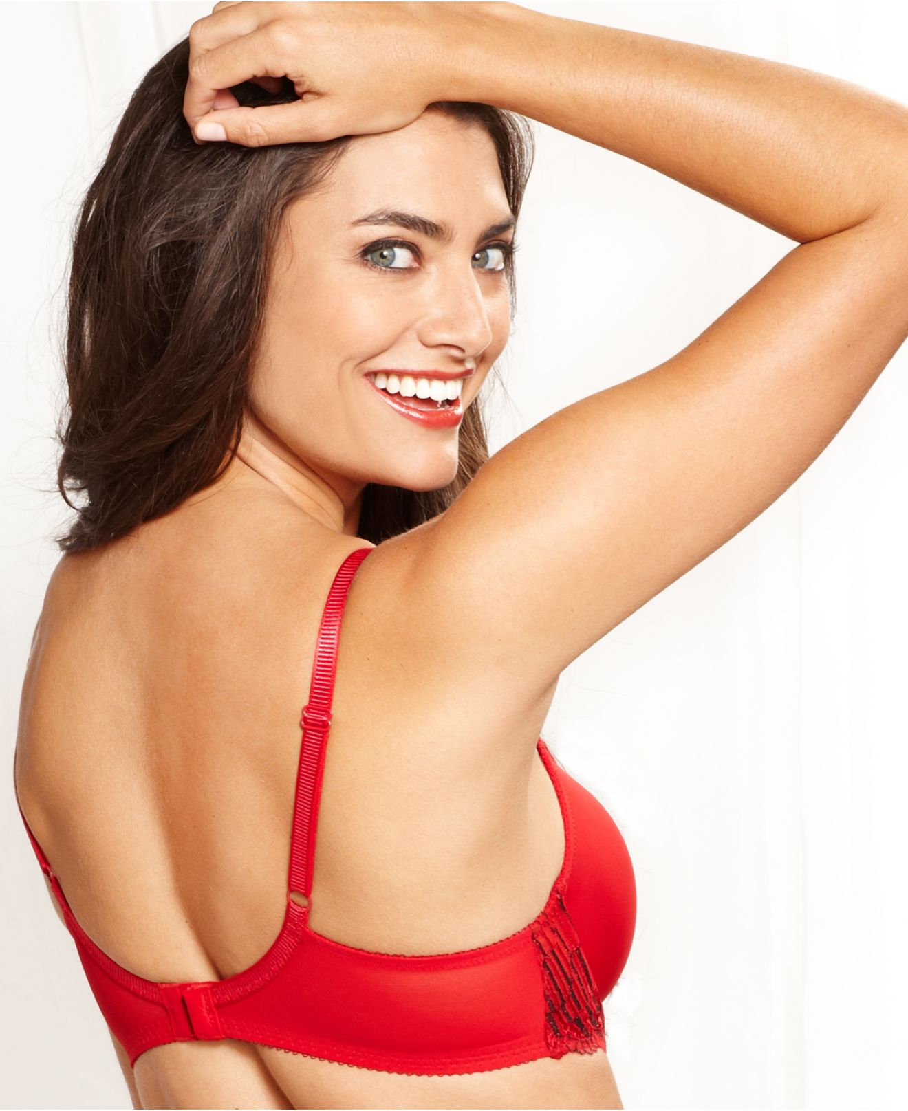 Lyst wacoal la femme lurex contour bra 853217 in red - Bras tatoue femme ...