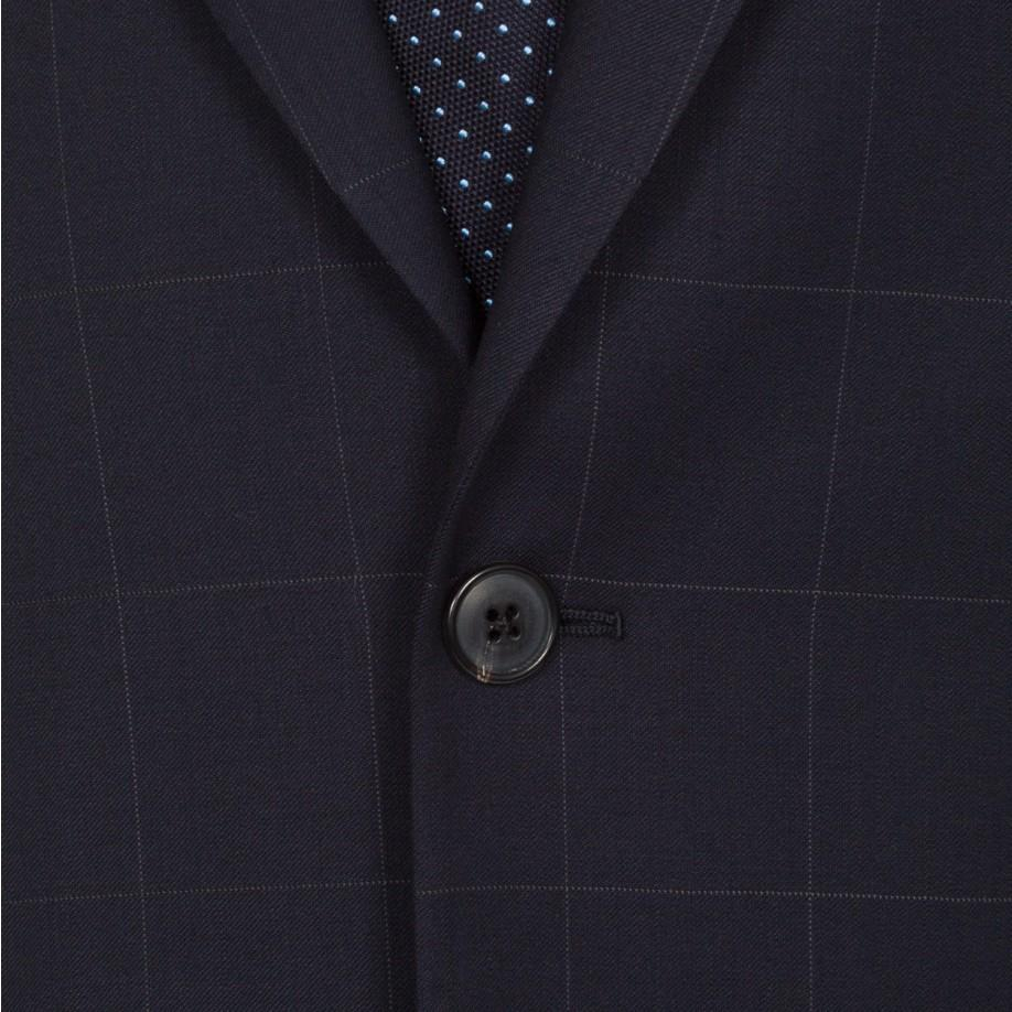 9a5317ce68a0 Paul Smith Men's Navy Windowpane-check Wool Suit in Blue for Men - Lyst