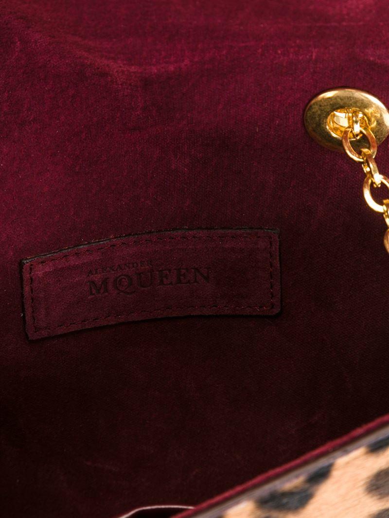 Alexander McQueen Leather 'heroine Mini Chain' Satchel in Red