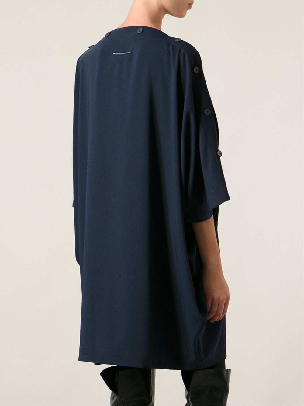 Lyst mm6 by maison martin margiela oversized dress in blue for Mm6 maison margiela