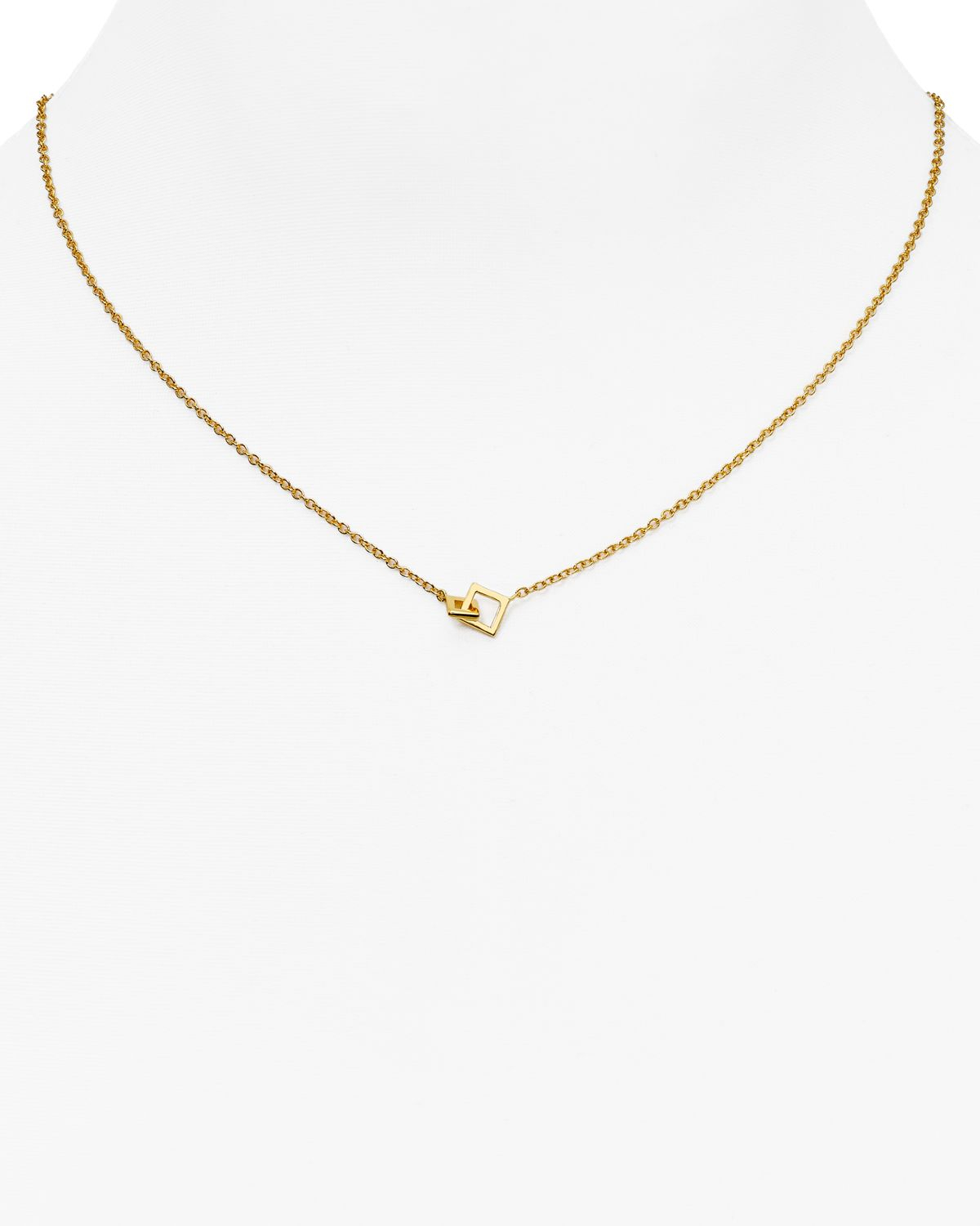 gorjana charm necklace 17 quot in gold lyst