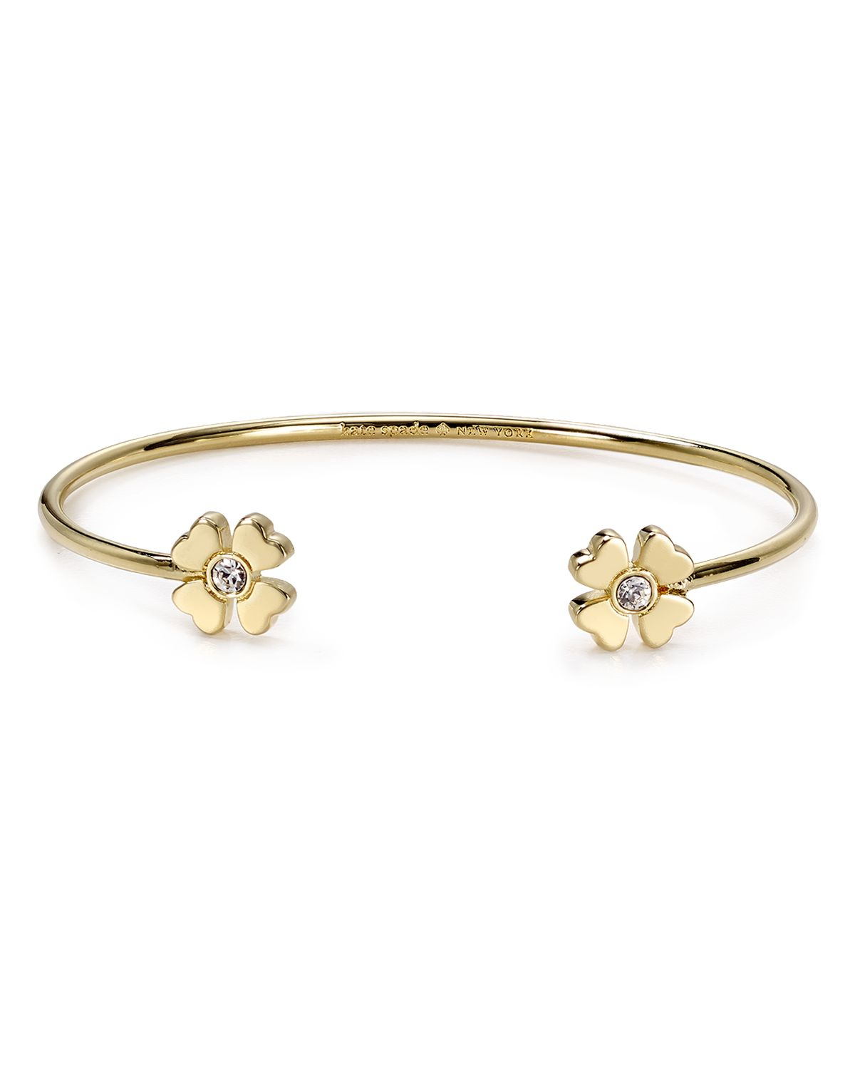 Favorite Lyst - Kate Spade New York Four Leaf Clover Bangle in Metallic DH62
