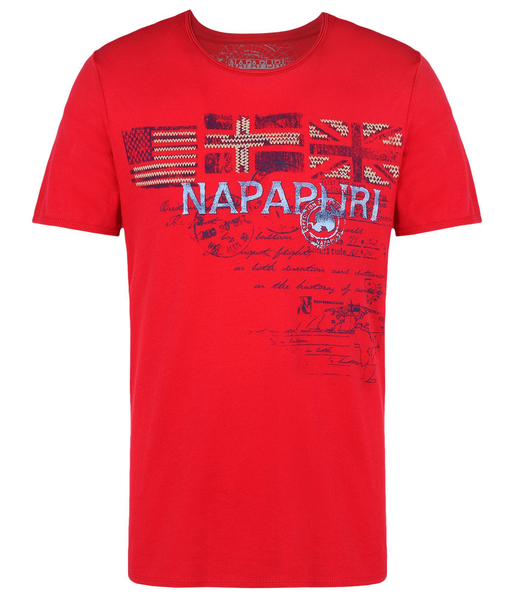 napapijri short sleeve t shirt in red for men lyst. Black Bedroom Furniture Sets. Home Design Ideas