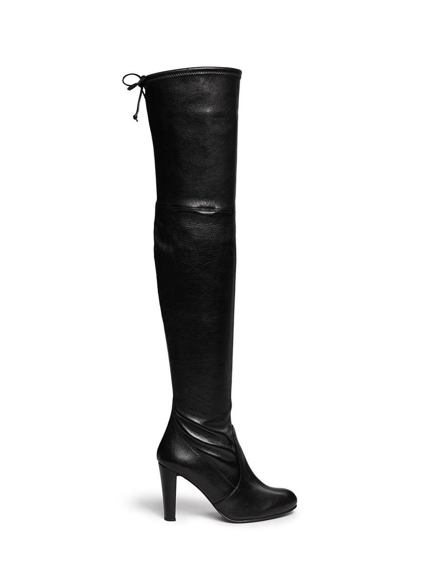 stuart weitzman highland stretch leather thigh high
