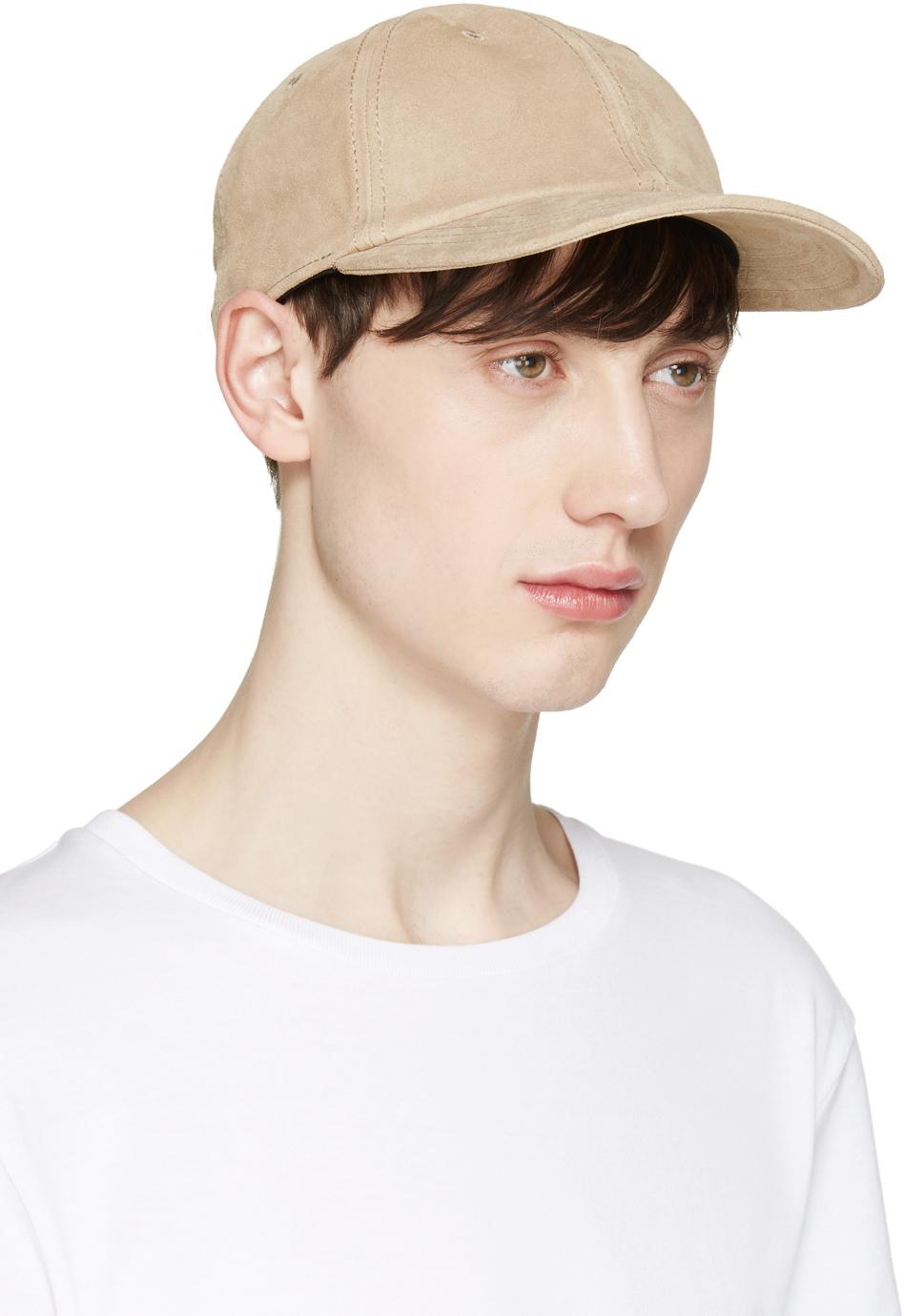 Lyst - Rag   Bone Beige Suede Cap in Natural for Men 7cb4691117b