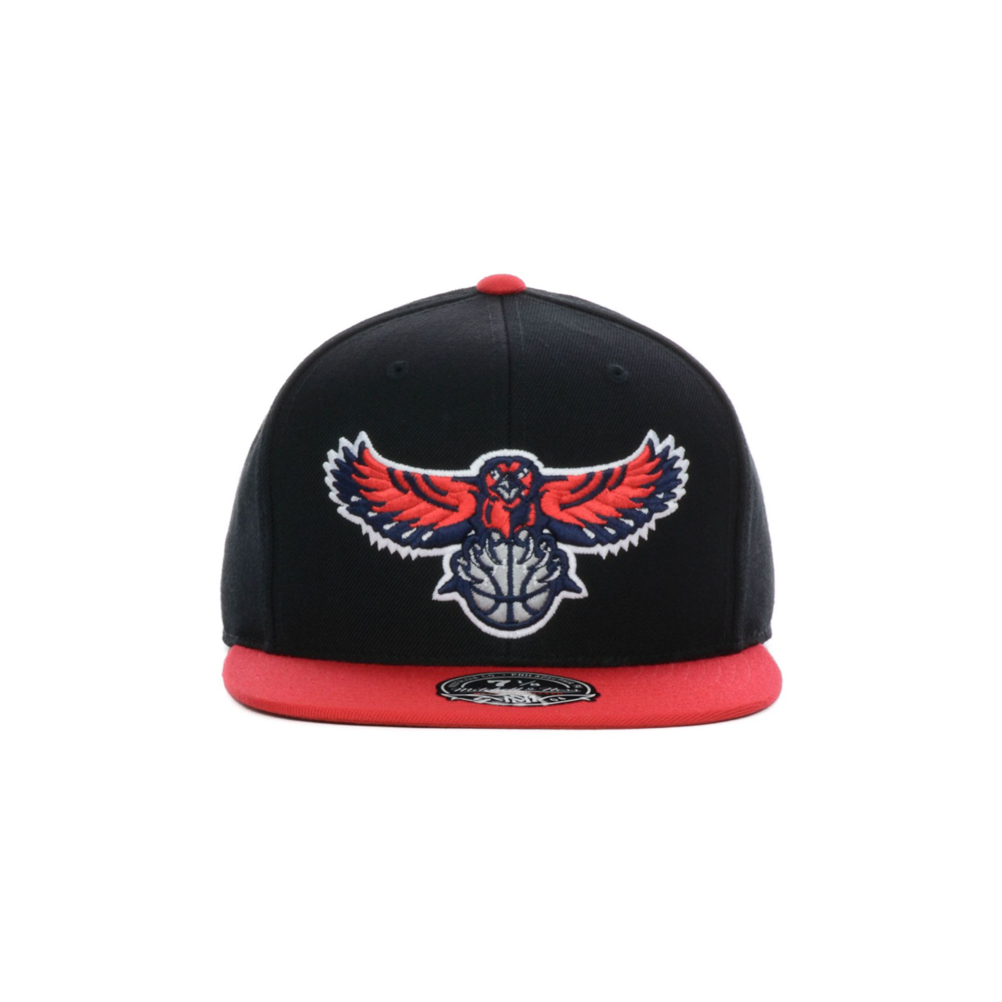 online store 91d1f c0963 ... ireland lyst nike mitchell ness atlanta hawks nba black 2 tone fitted  cap in red for