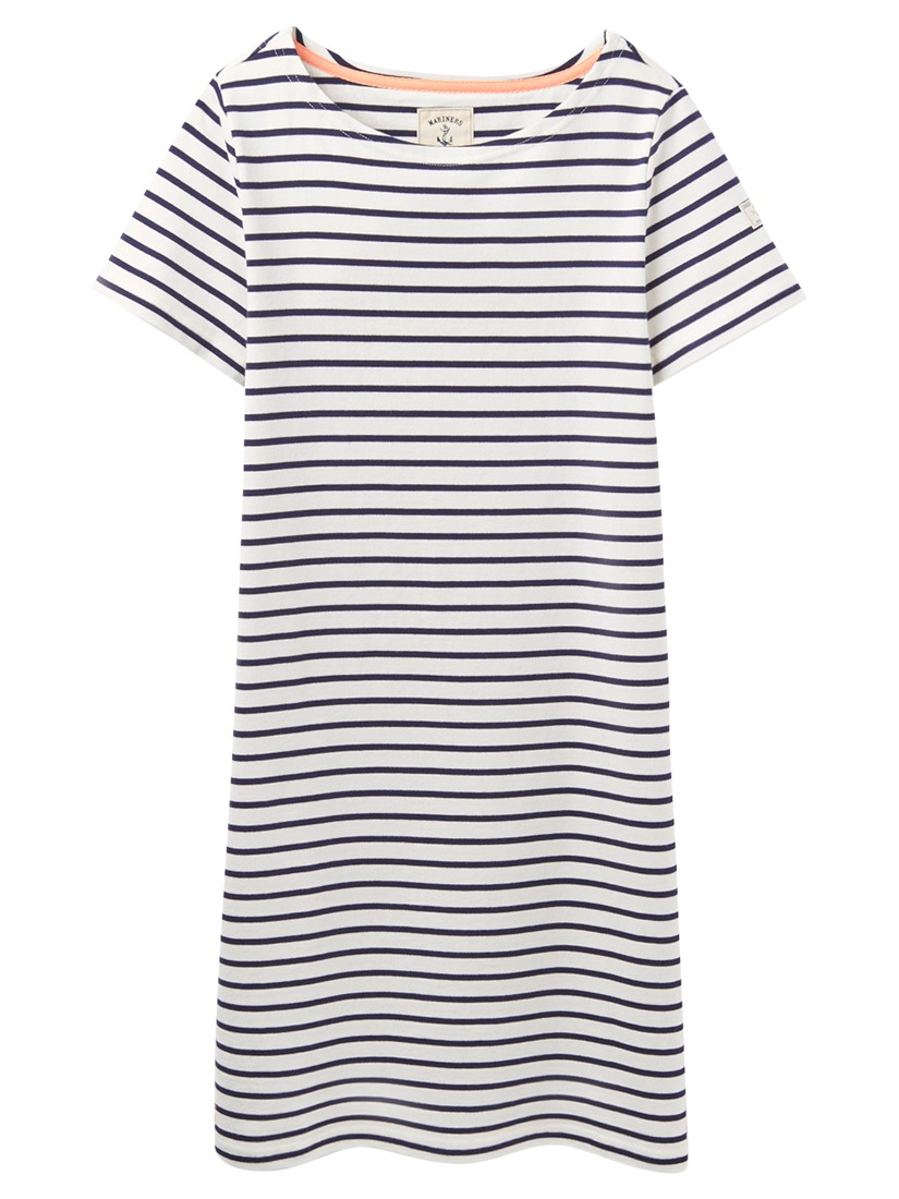 Lyst joules riviera jersey t shirt dress in blue for Joules riviera jersey t shirt dress