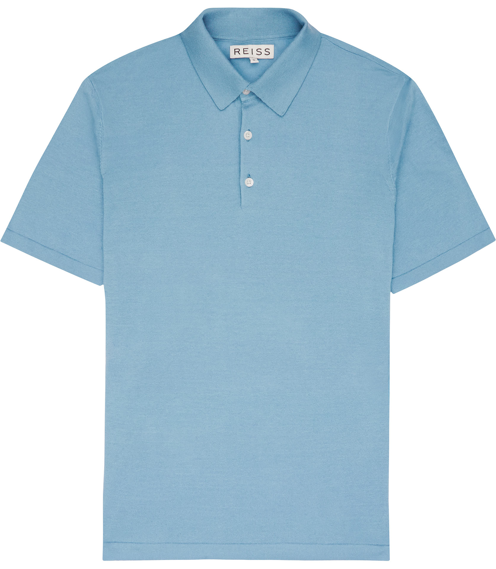 Reiss hewitt knitted polo shirt in blue for men lyst for Knitted polo shirt mens