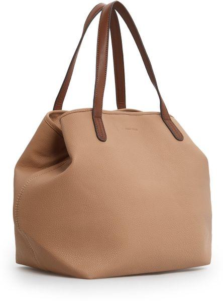 Tote Bag Shapes Shape Shopper Bag in Beige