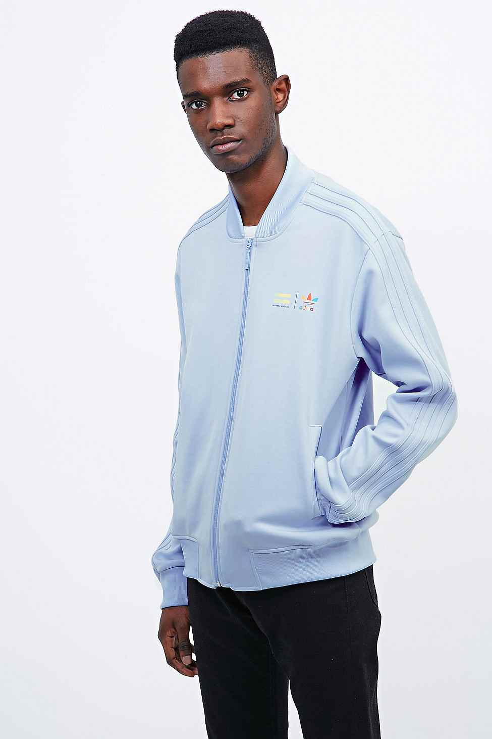 06f8e13b4583 adidas X Pharrell Supercolor Track Jacket In Clear Sky in Blue for ...