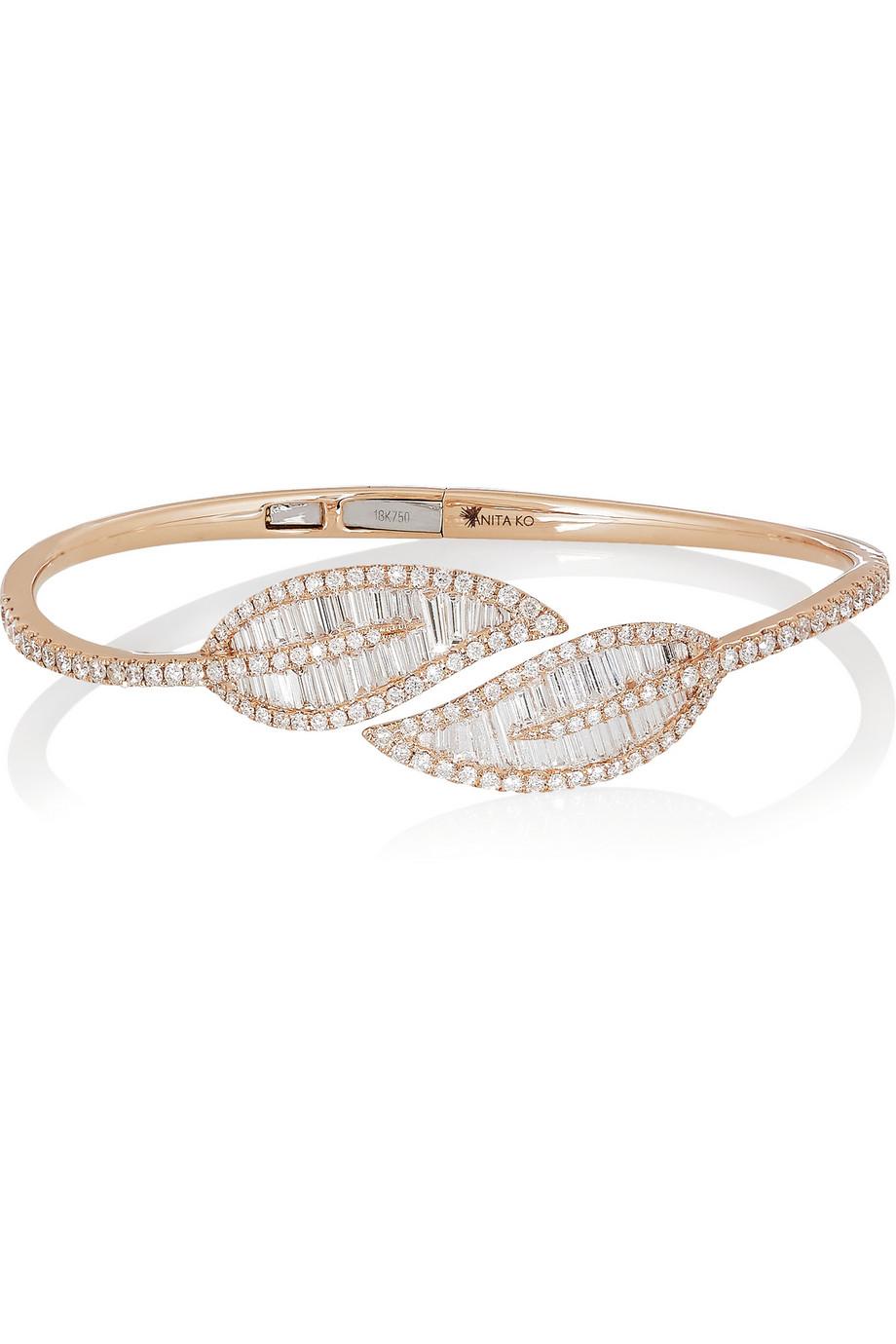 Anita Ko Eternity 18-karat White Gold Diamond Bracelet IyiaSOJR6