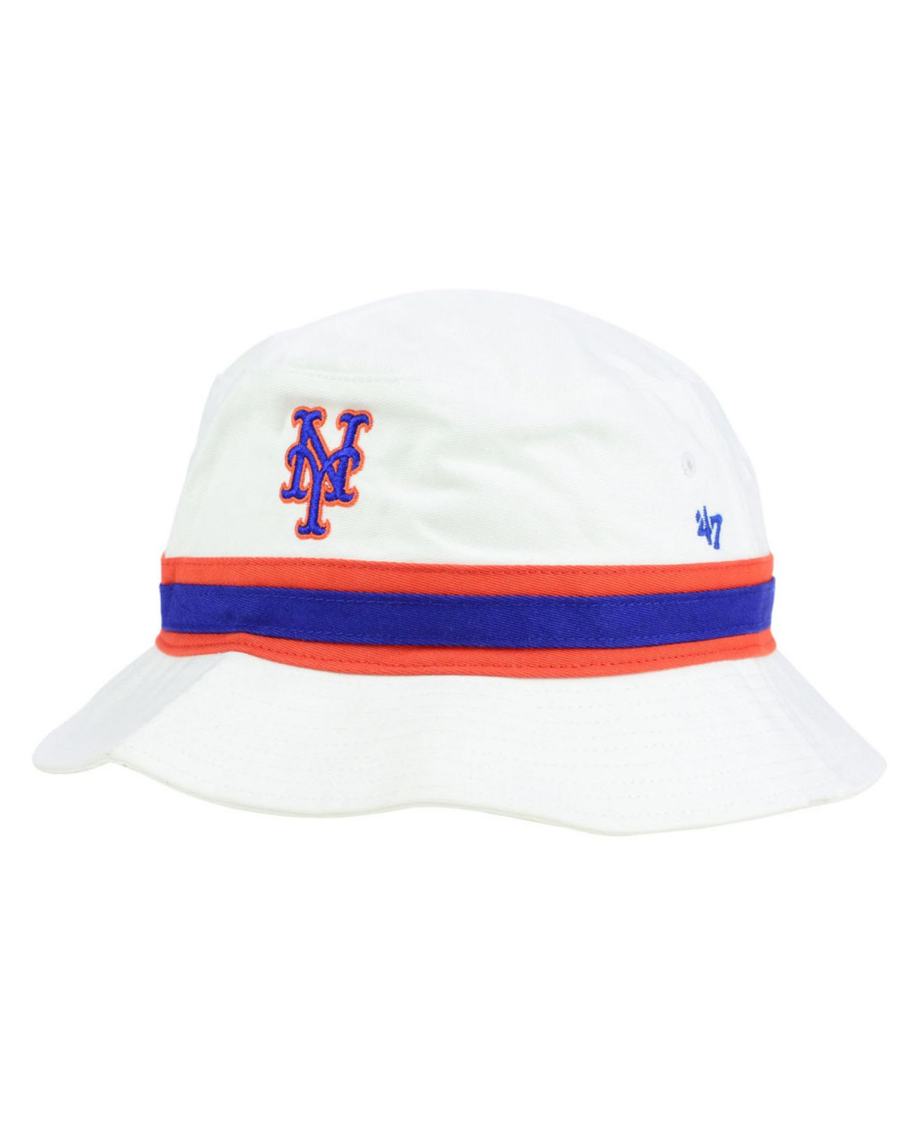 6ebc3e16f655d 47 Brand New York Mets Striped Bucket Hat in White - Lyst