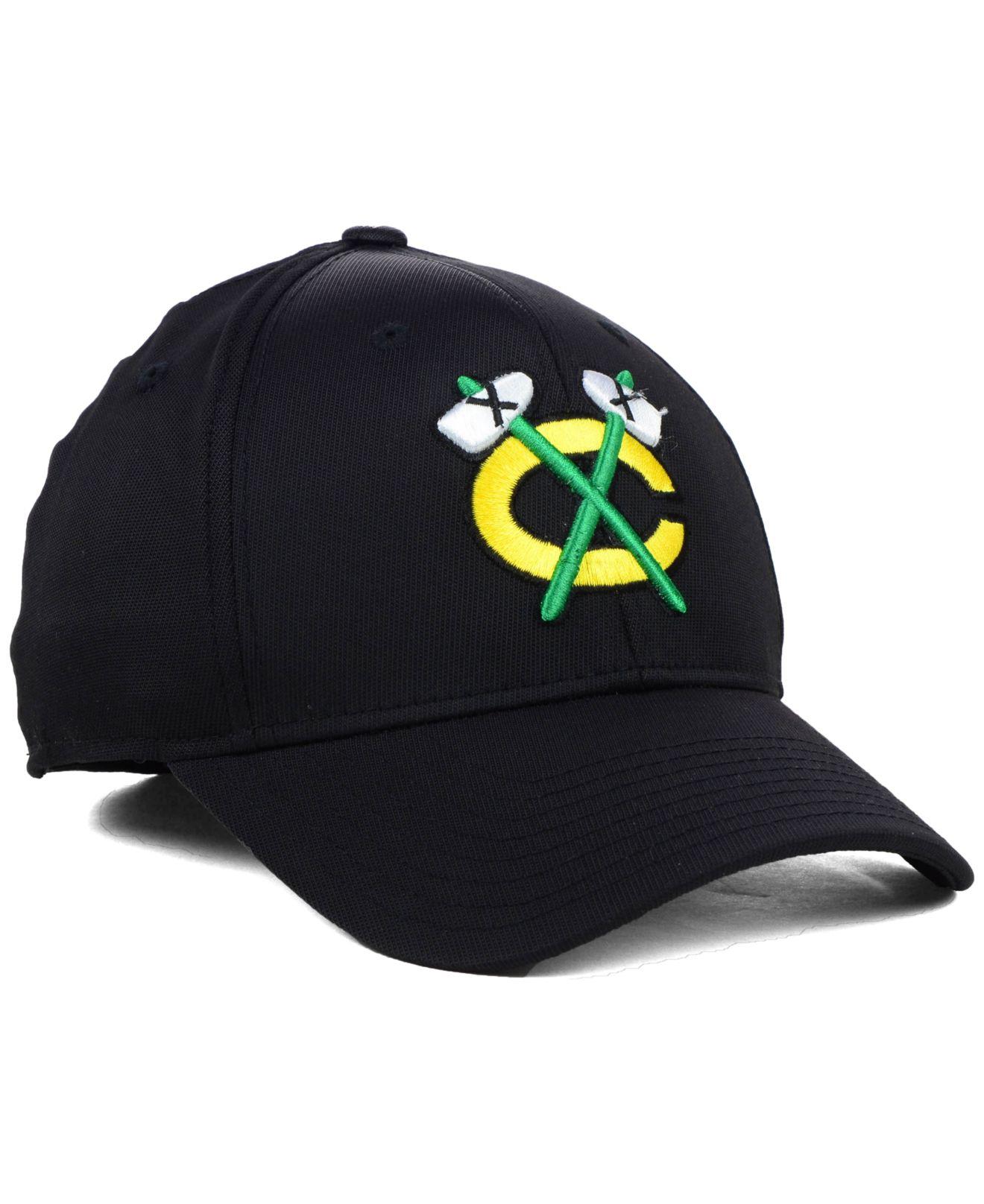 3ae2686a23b Lyst - Reebok Chicago Blackhawks Nhl Hat Trick 2.0 Cap in Black for Men