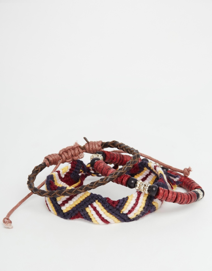 icon brand embroidered bracelet pack in for lyst
