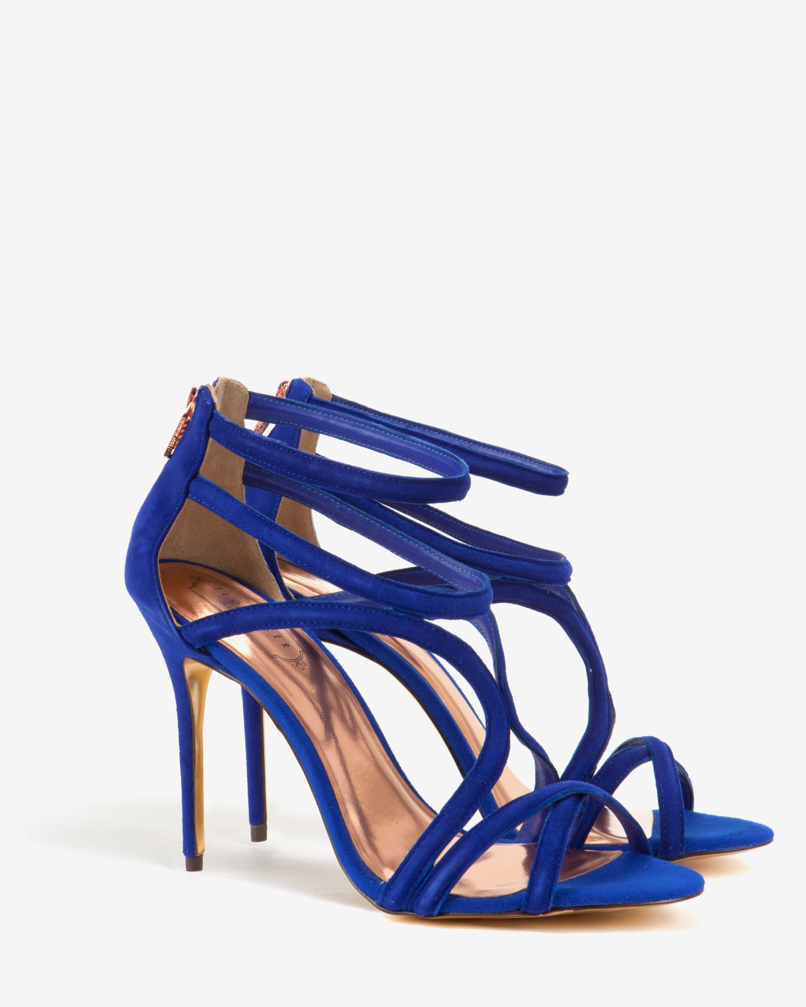 b59d30fb9df Ted Baker Blue Suede Wrap Around Gladiator Sandals