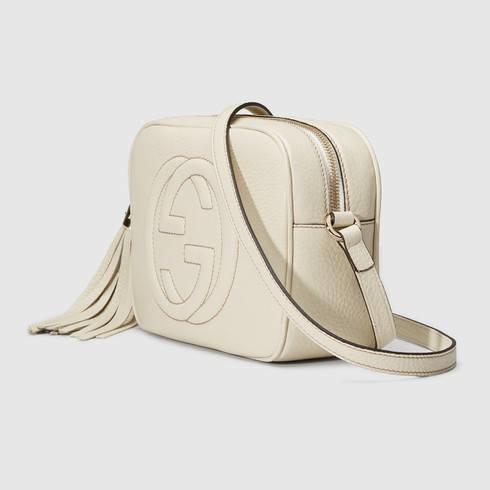 c32893c97cbd Gucci Soho Leather Disco Bag in White - Lyst